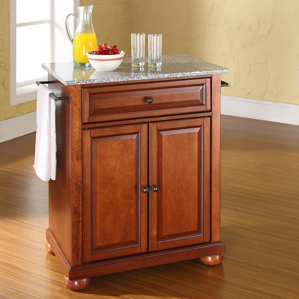 Granite Kitchen Cart Darby Home Co Pottstown Kitchen Cart With Granite Top Reviews