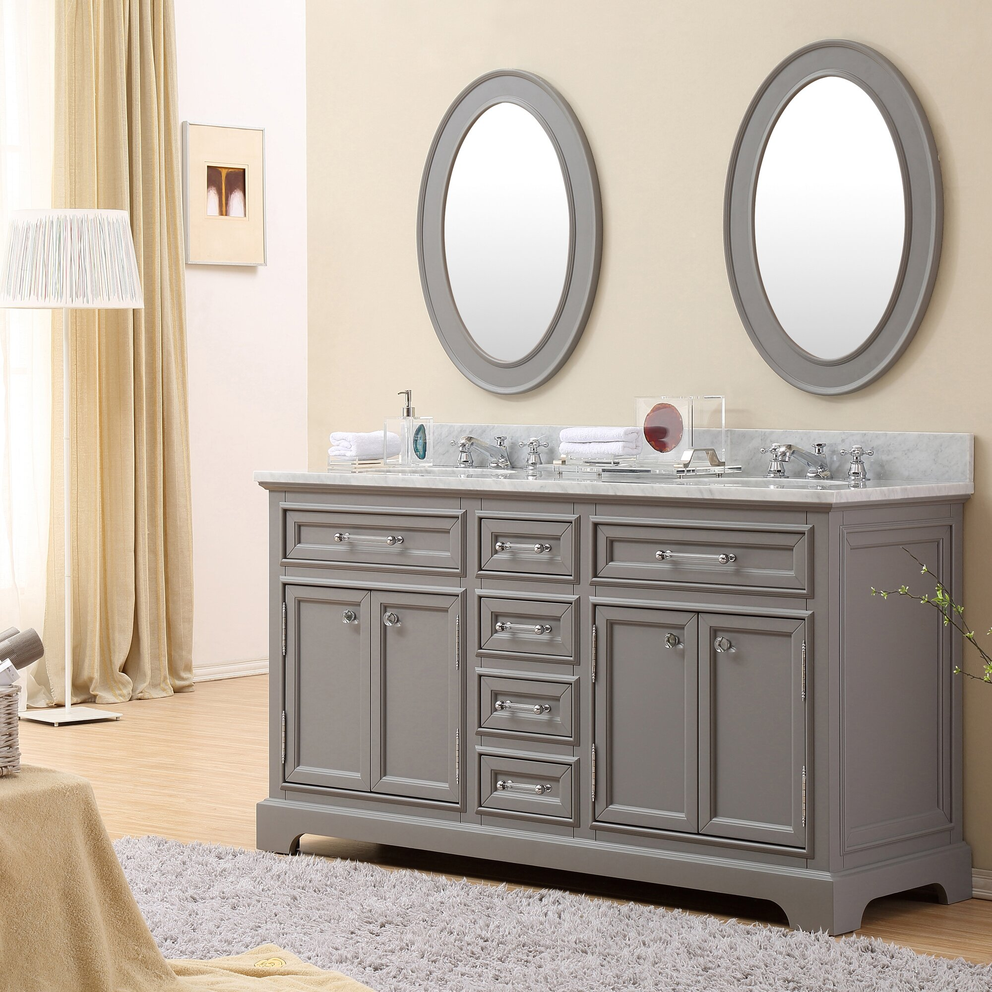60 Bathroom Cabinet Darby Home Co Colchester 60 Double Sink Bathroom Vanity Set