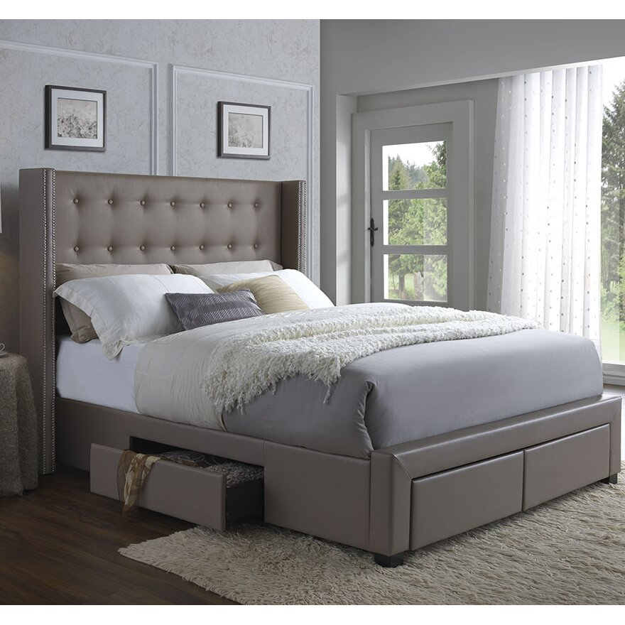 Bedroom Set Upholstered