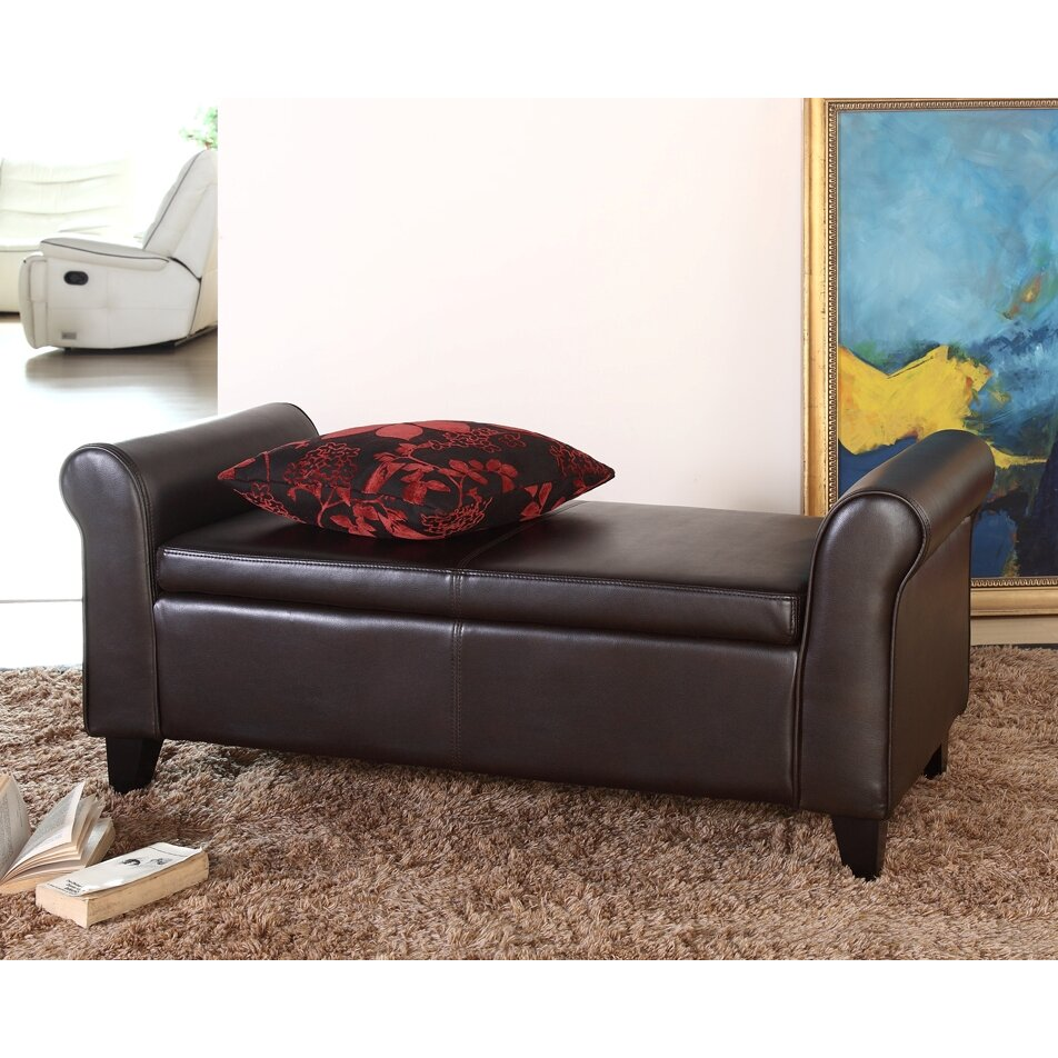 Leather Storage Bench Bedroom Darby Home Co Fabric Storage Bedroom Bench Reviews Wayfair