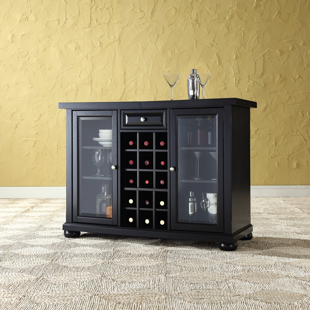 Home Depot Cabinets Review: Darby Home Co Pottstown Bar Cabinet With Wine Storage
