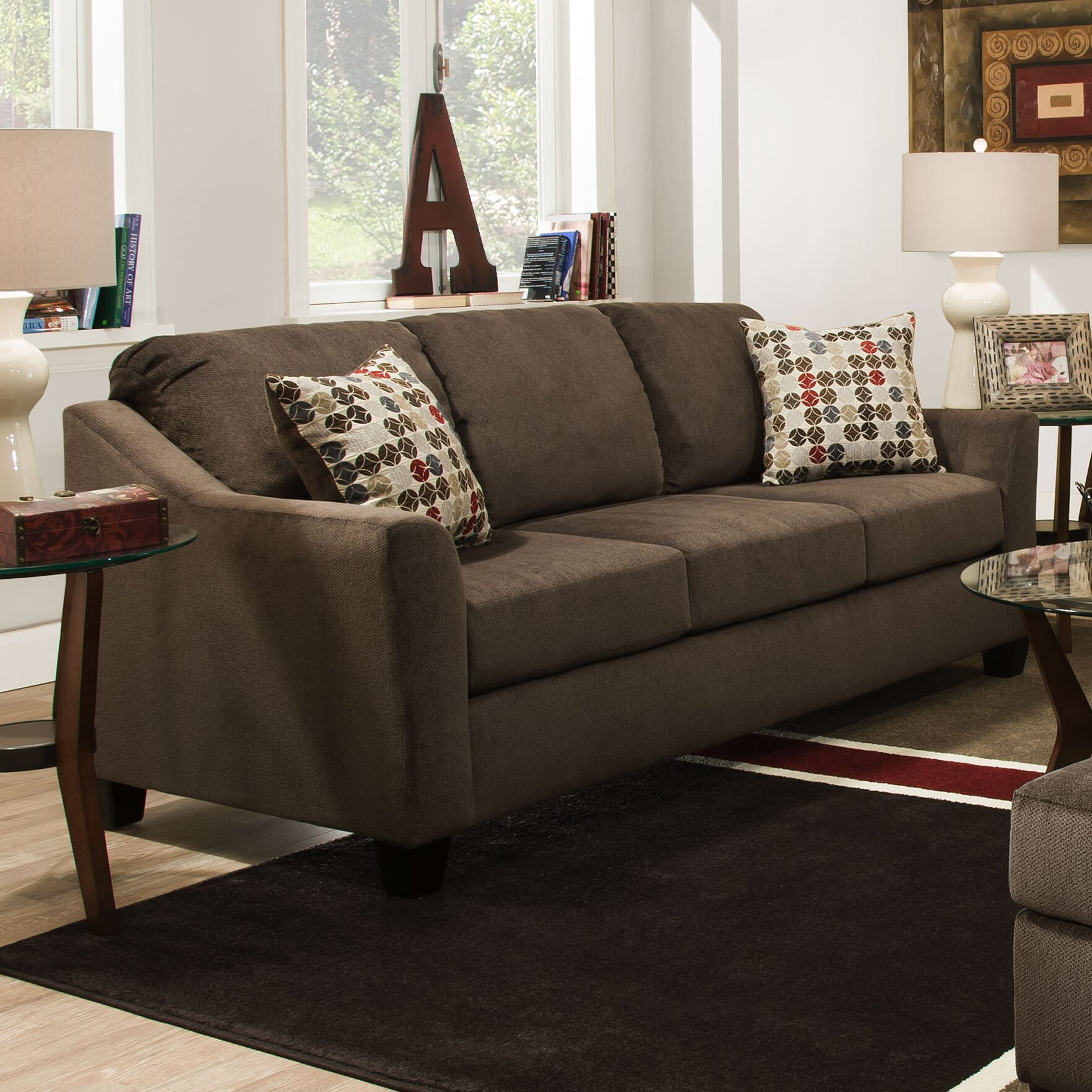 darby home co simmons upholstery olivia queen sleeper sofa c