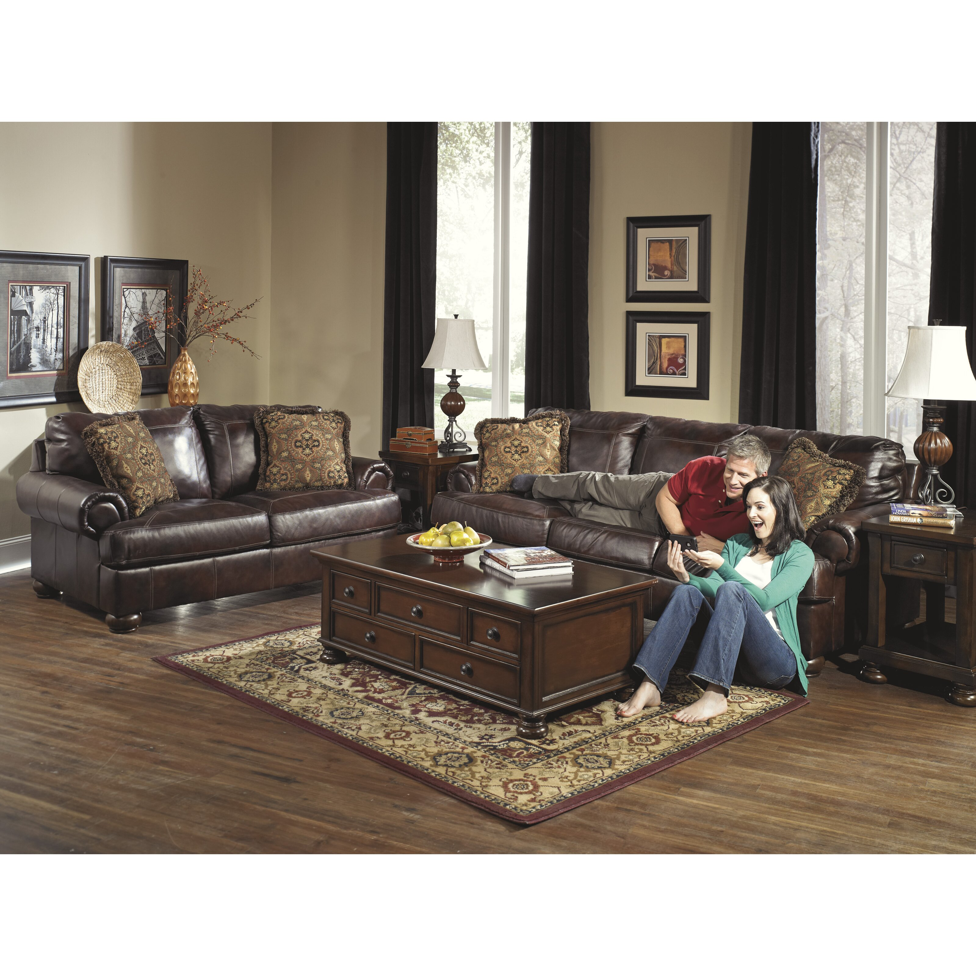Leather Furniture Living Room Darby Home Co Bannister Leather Sofa Reviews Wayfair