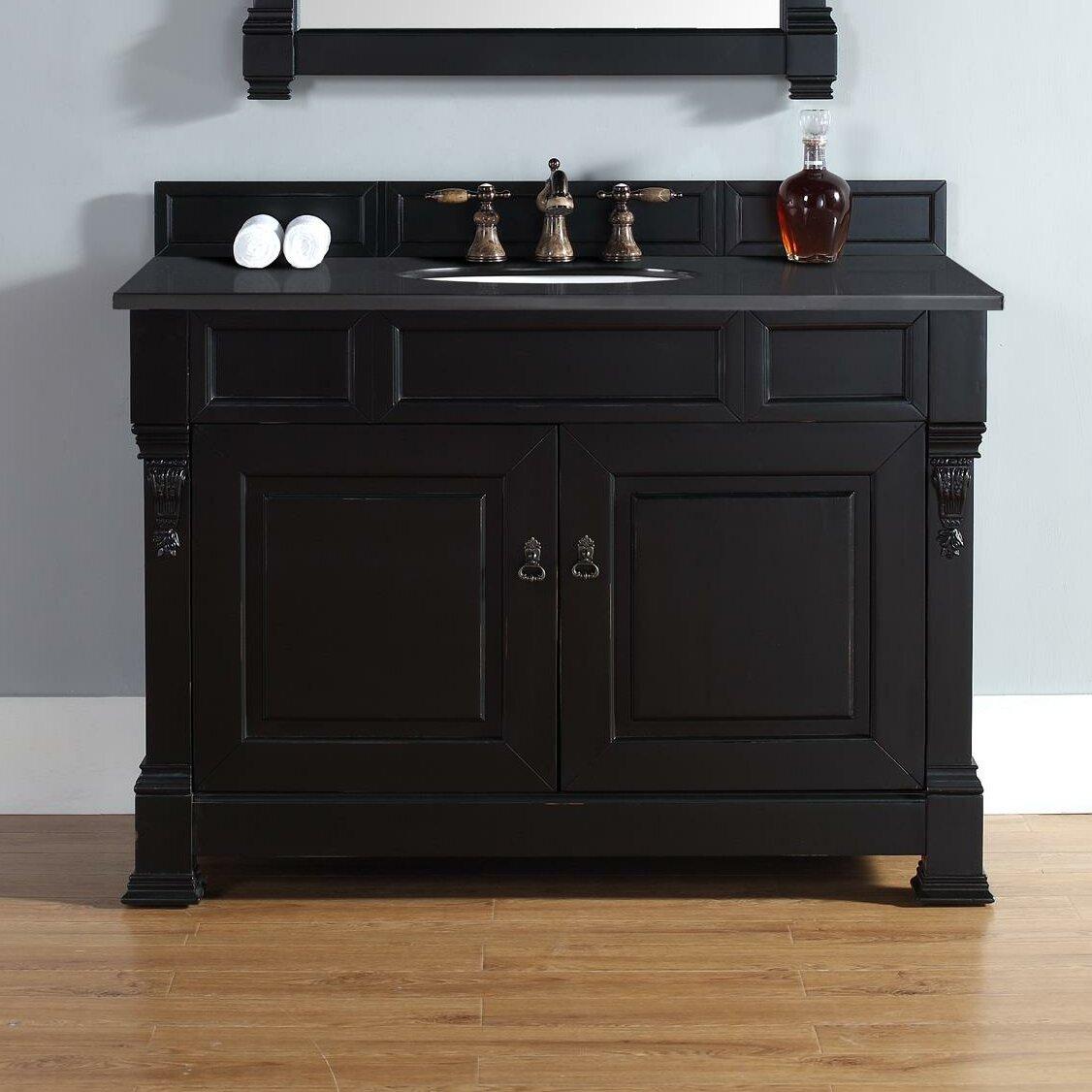 """Black Bathroom Vanity Set: Darby Home Co Bedrock 48"""" Single Antique Black Bathroom"""