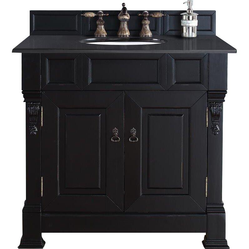 """Vintage Bathroom Vanity Set: Darby Home Co Bedrock 36"""" Single Antique Black Bathroom"""
