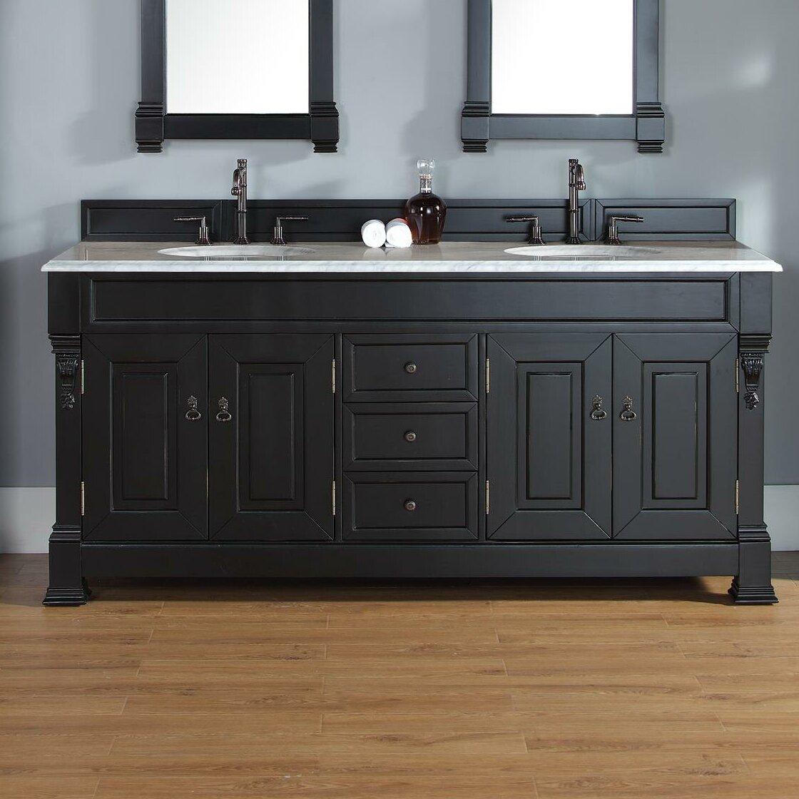 """Darby Home Co Bedrock 72"""" Double Antique Black Bathroom"""