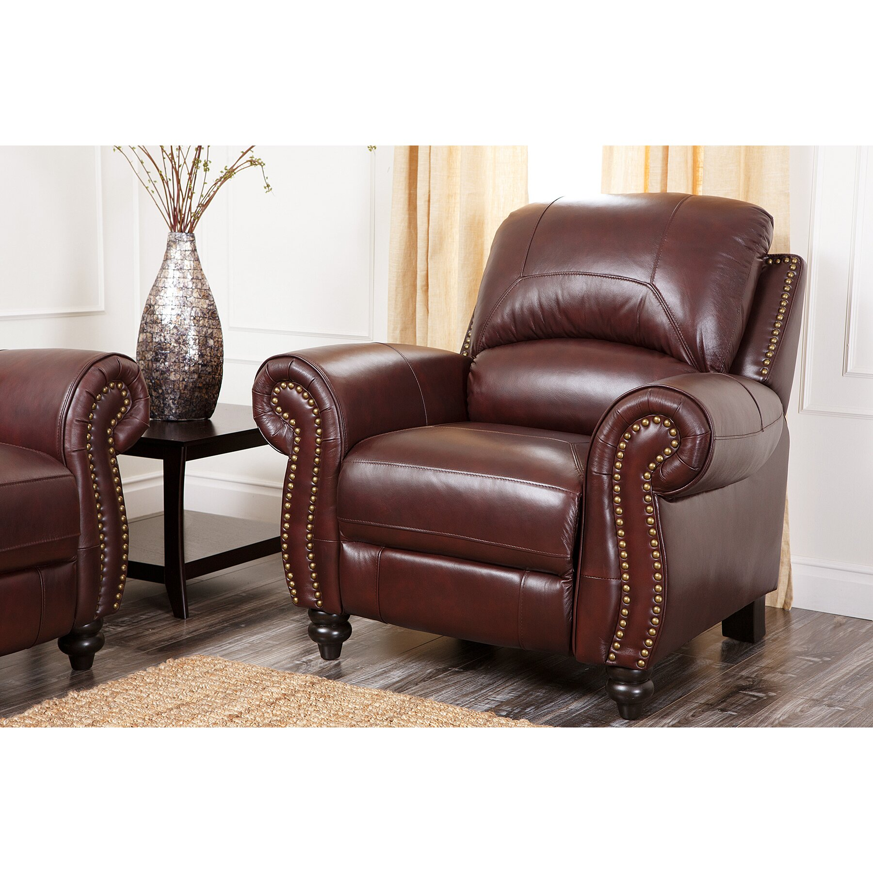 Living Room Arm Chairs Darby Home Co Kahle Leather Arm Chair Recliner Reviews Wayfair
