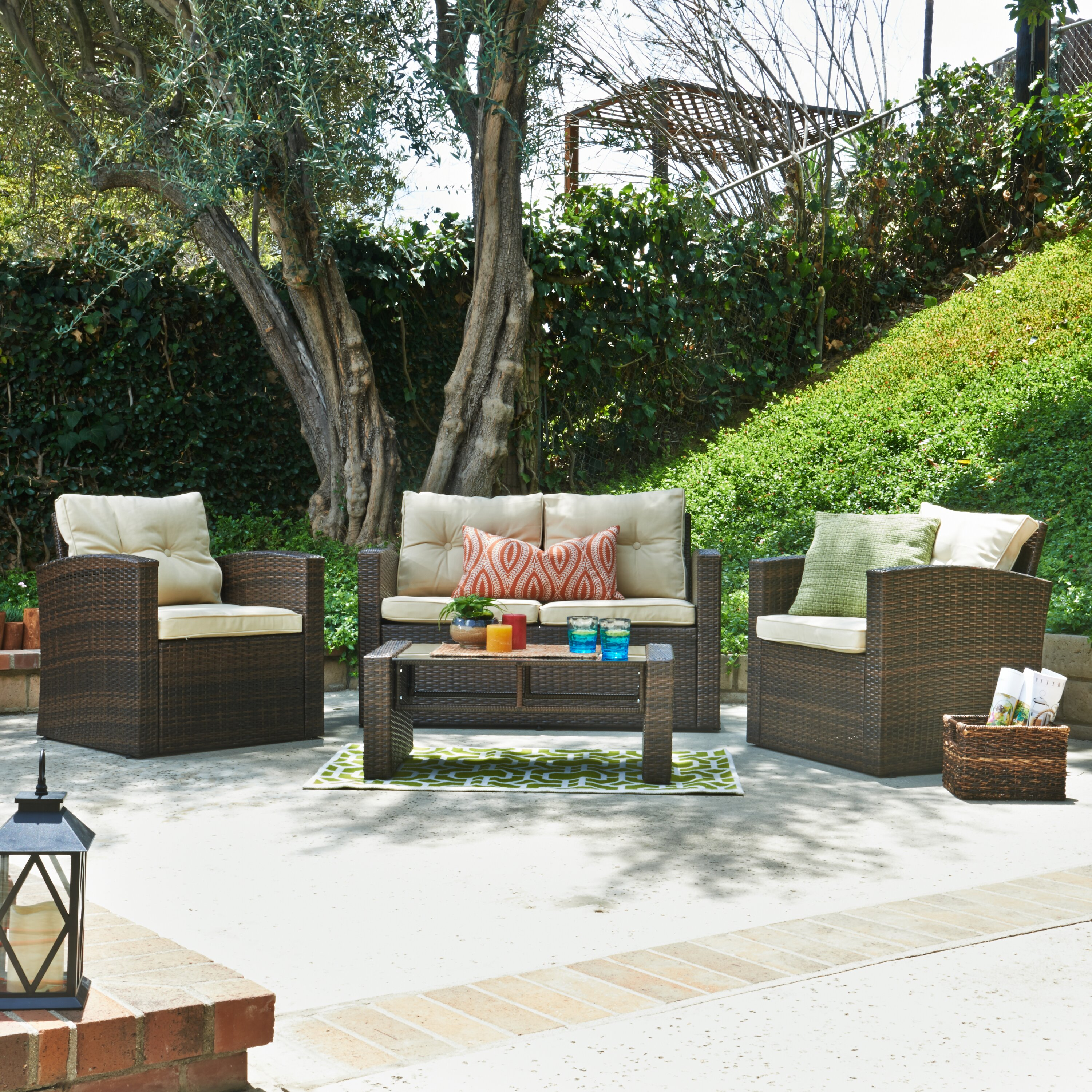Wayfair Com Furniture: Alcott Hill Raven 4 Piece Seating Group With Cushion