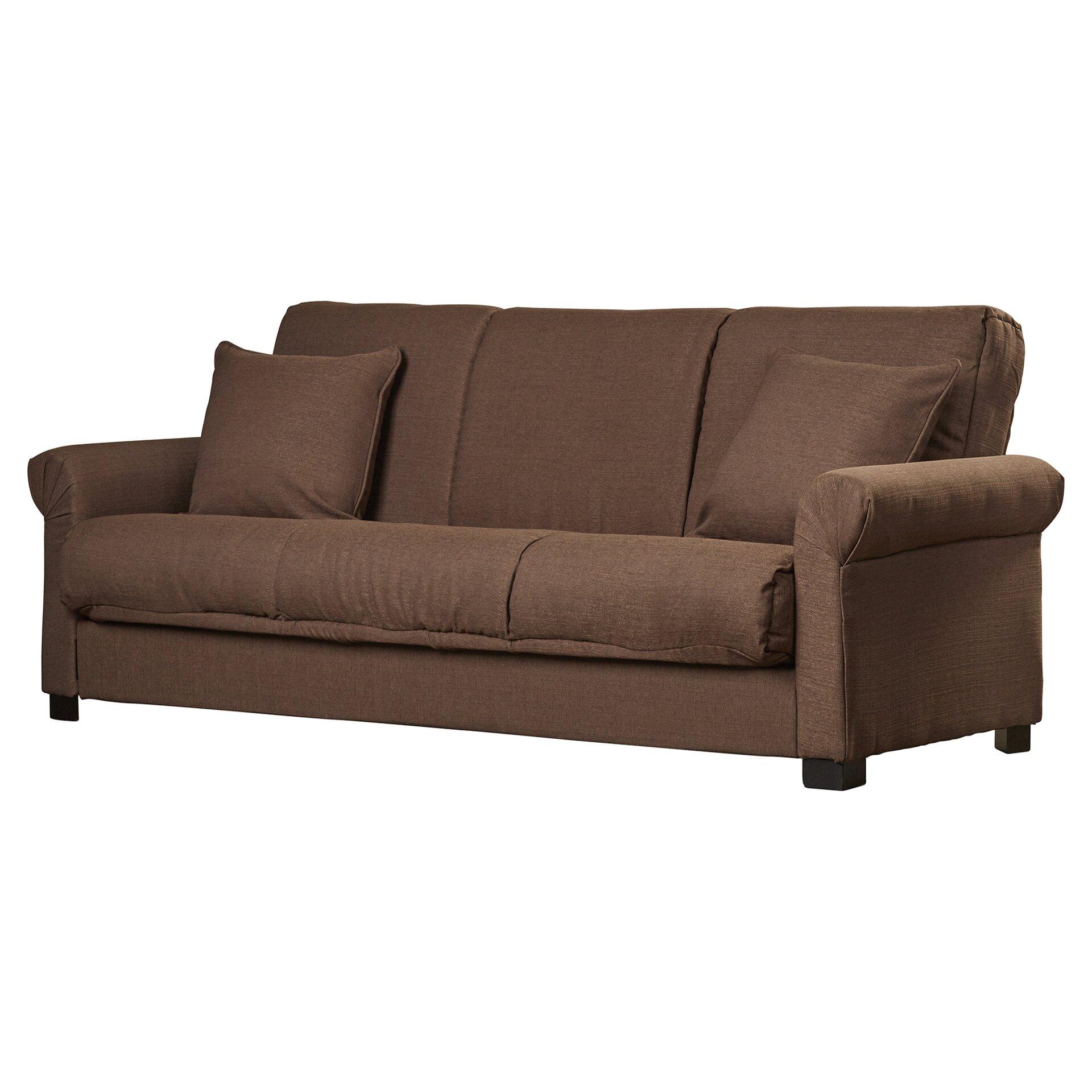 Alcott Hill Lawrence Full Convertible Upholstered Sleeper Sofa .