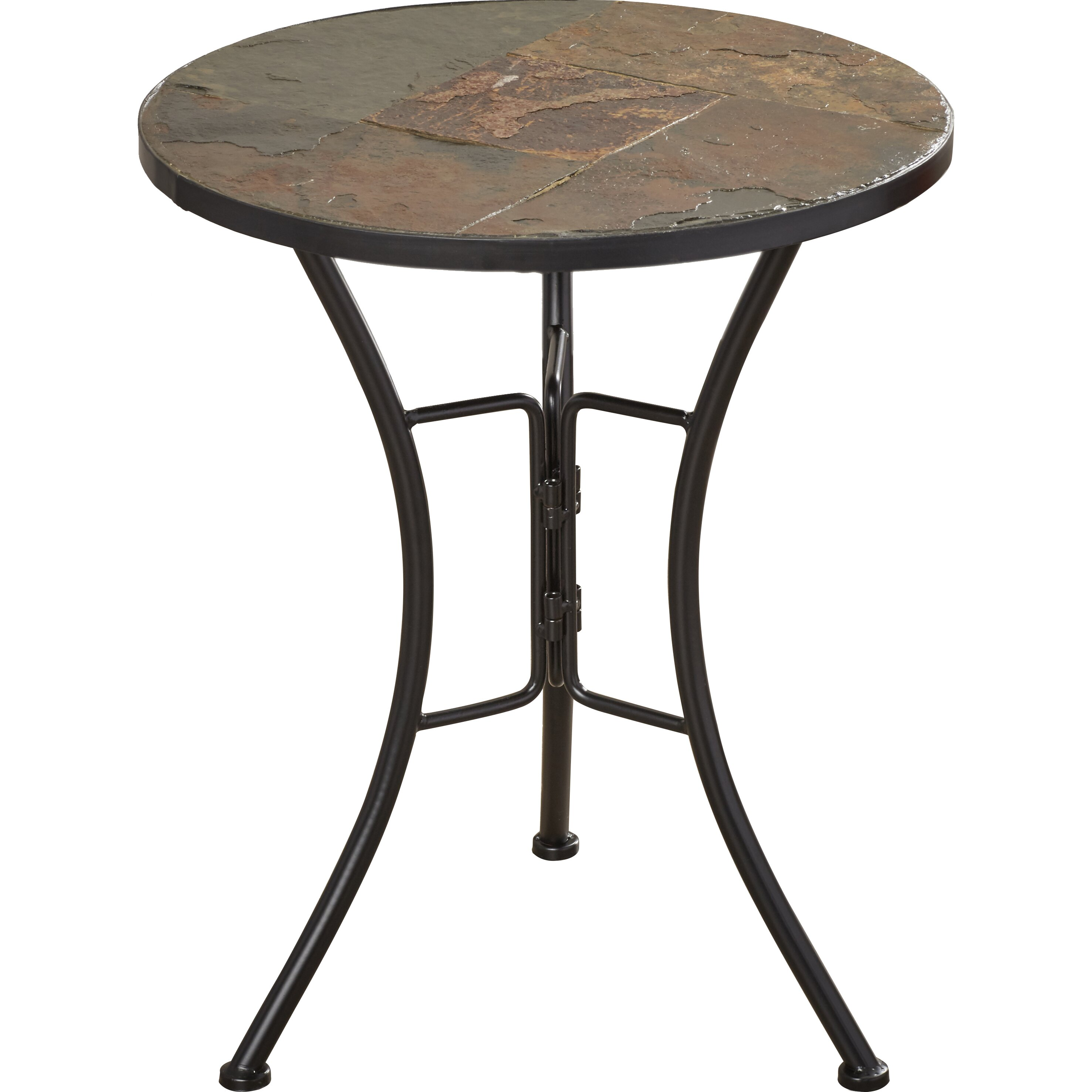 Alcott Hill Barker Ridge Slate Round Top Coffee Table Reviews