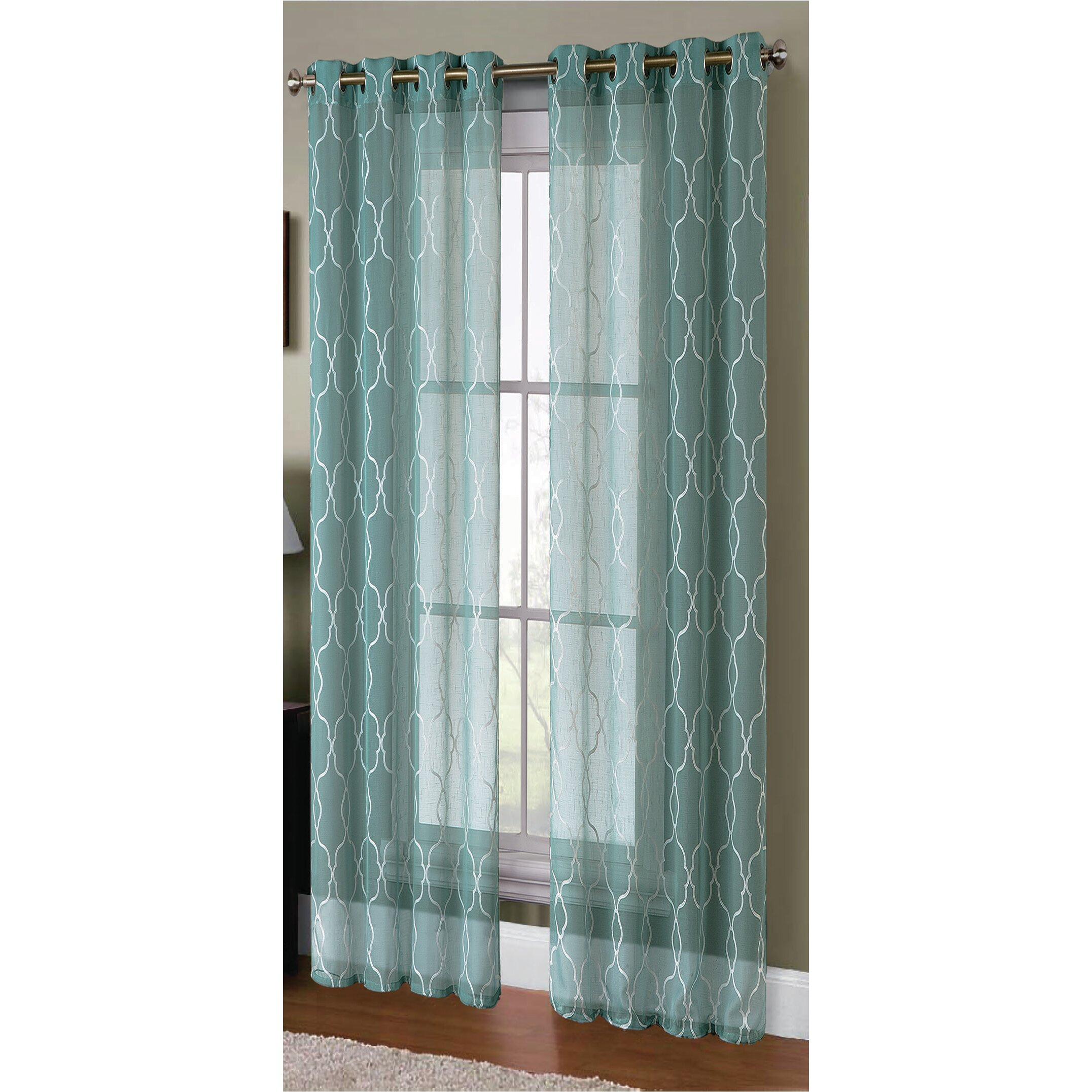 Wonderful image of  Hill Knollwood Boho Embroided Sheer Curtain Panels & Reviews Wayfair with #644127 color and 2153x2153 pixels