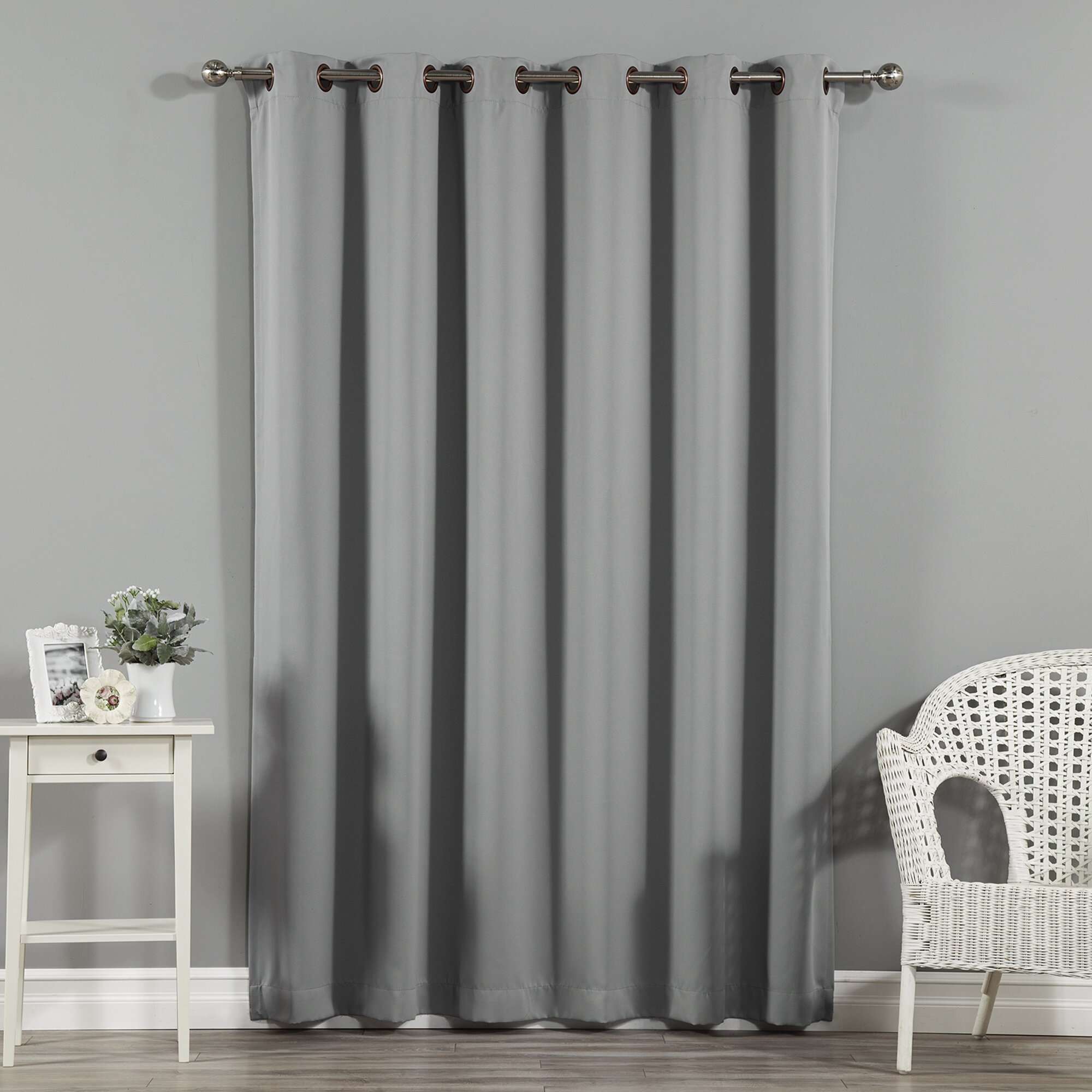 Jasper Solid Extra Wide Thermal Blackout Grommet Single Curtain Panel Reviews Joss Main