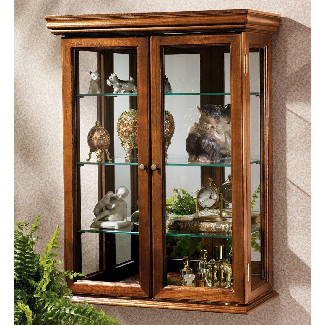 Charlton Homeu0026reg; Country Tuscan Wall-Mounted Curio Cabinet