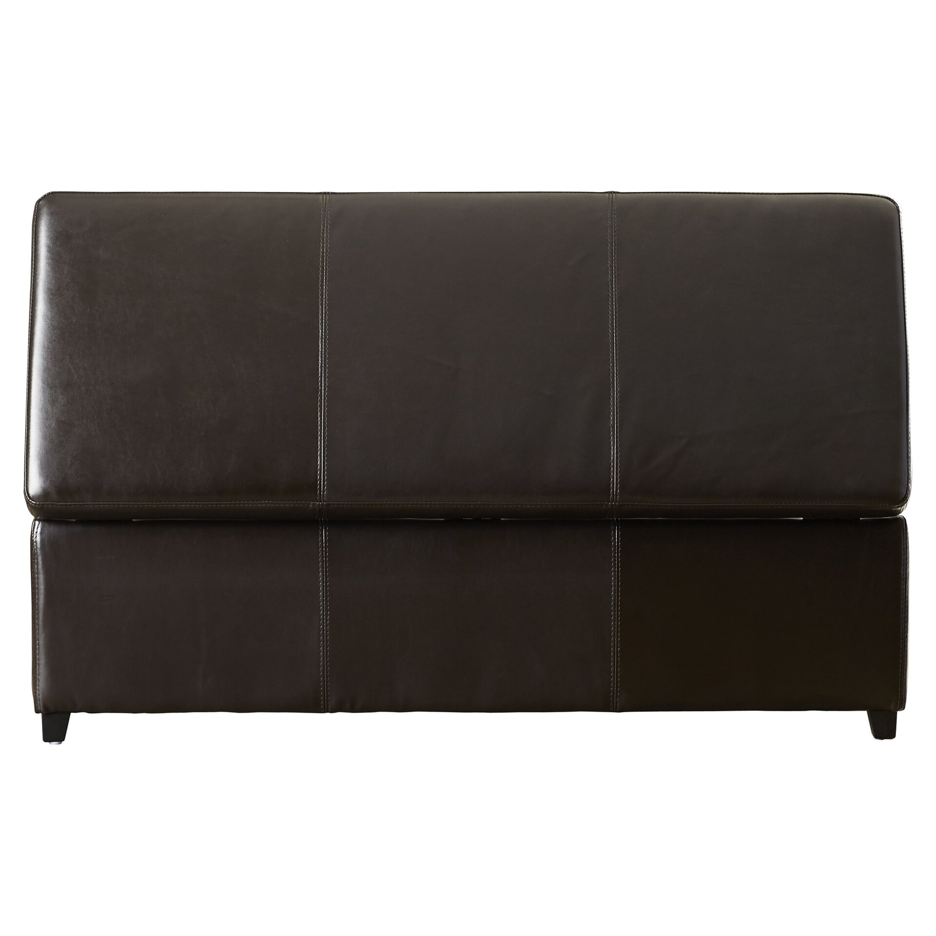 Leather Storage Bench Bedroom Charlton Home Ephraim Leather Storage Bedroom Bench Reviews