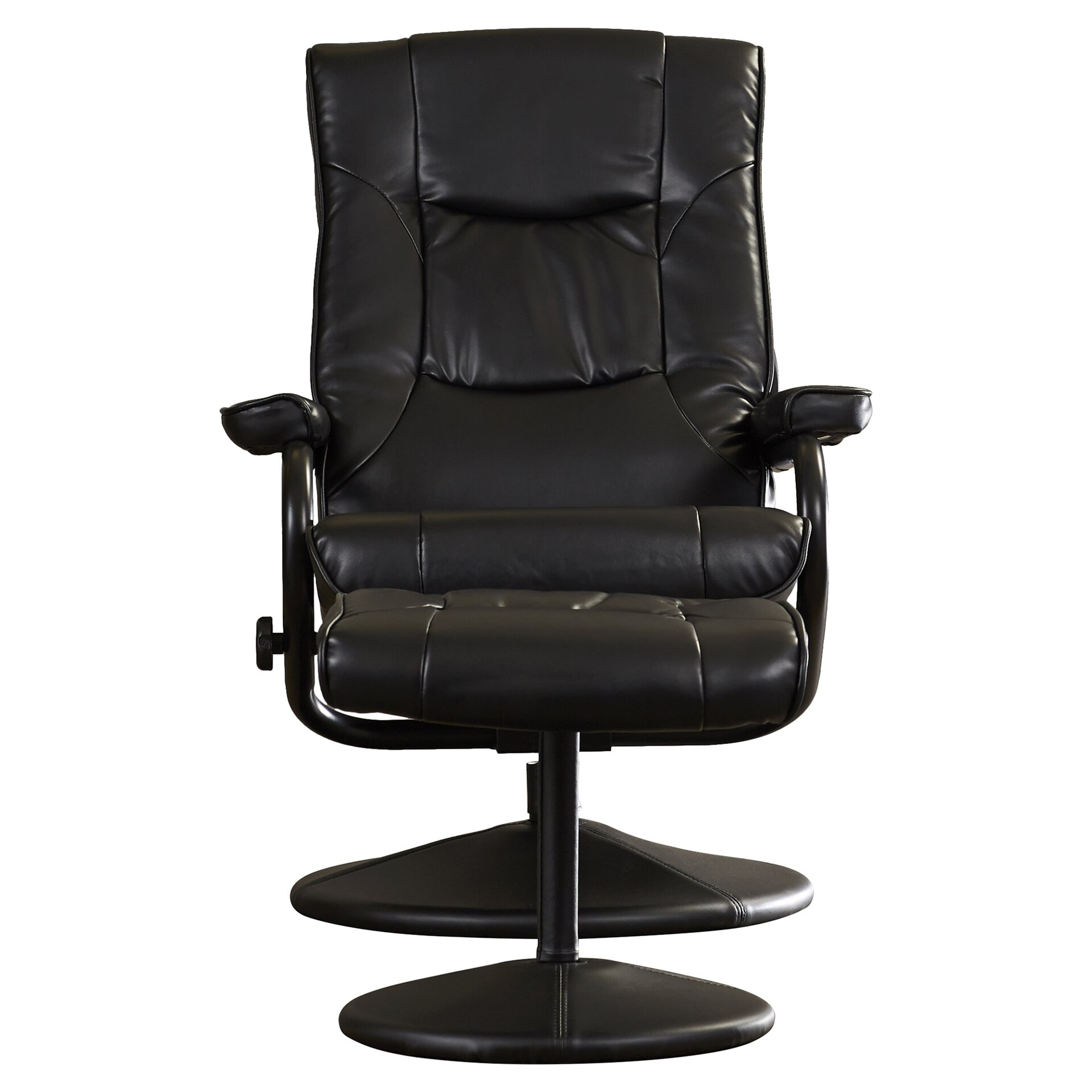 Charlton Home Soft Leather Reclining Office Chair and Ottoman Set – Office Chair Reclining