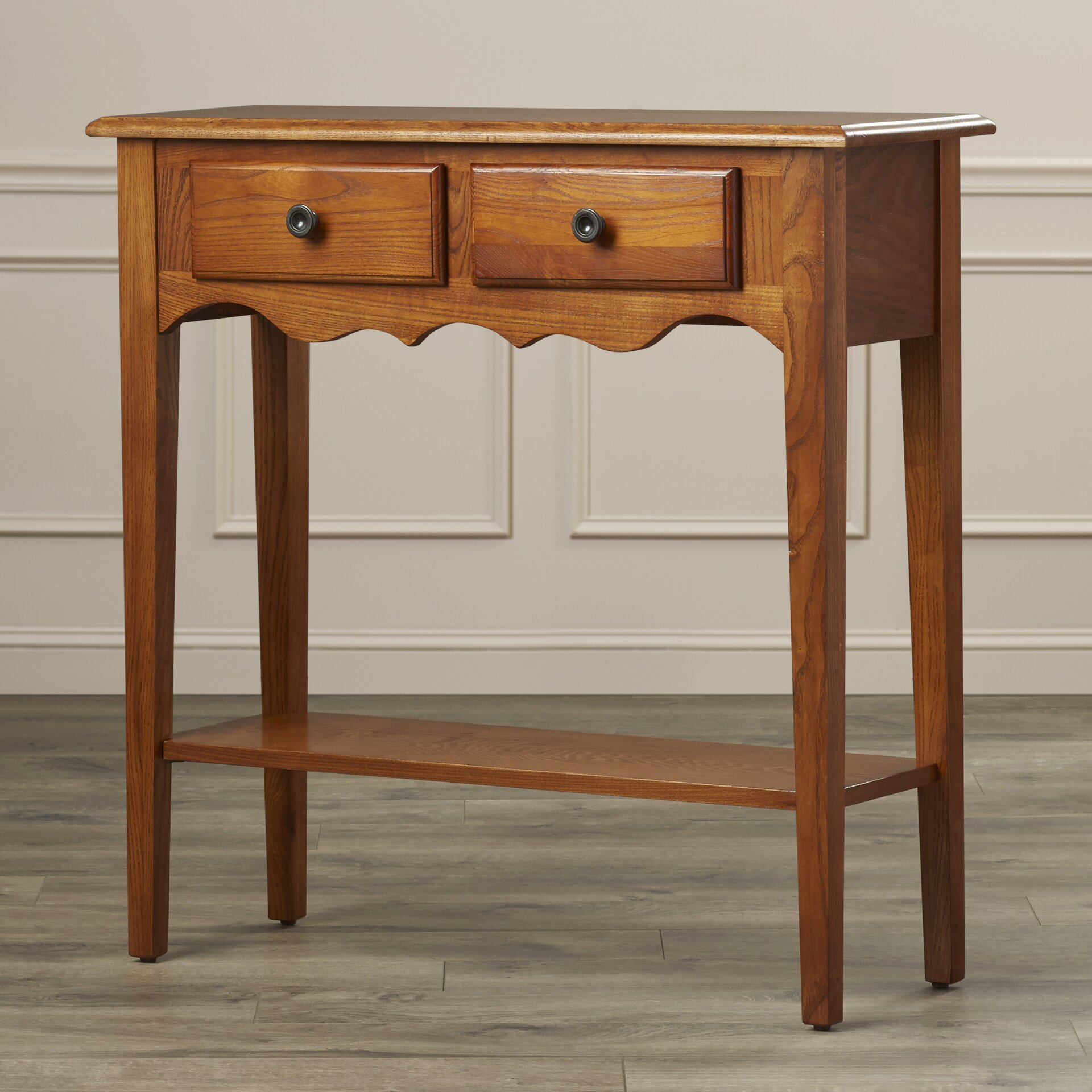 Apple Valley Kitchen Cabinets Charlton Home Apple Valley Petite Console Table Reviews Wayfair