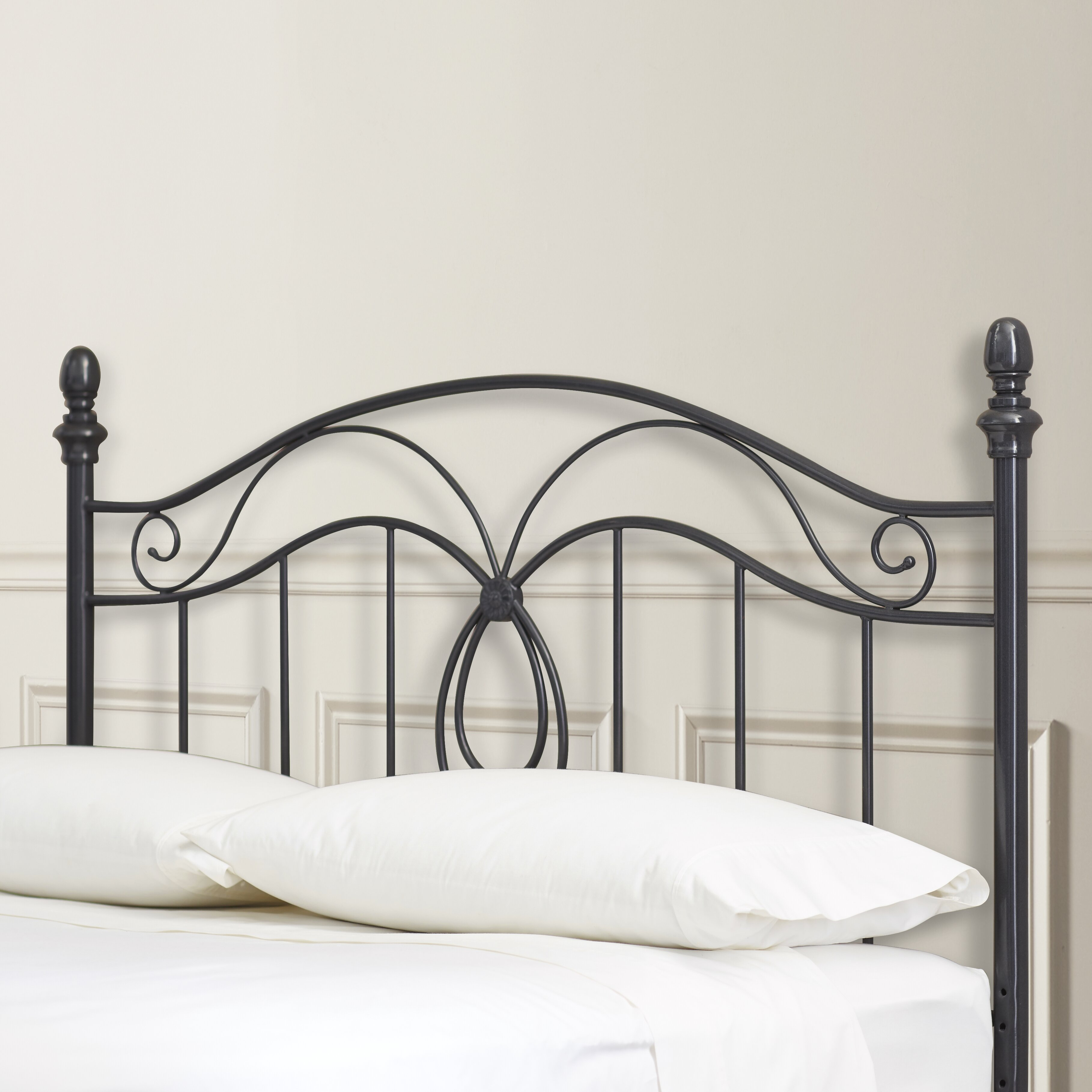 Metal headboard bed frame - Charlton Home Reg Crocker Bedroom Metal Headboard