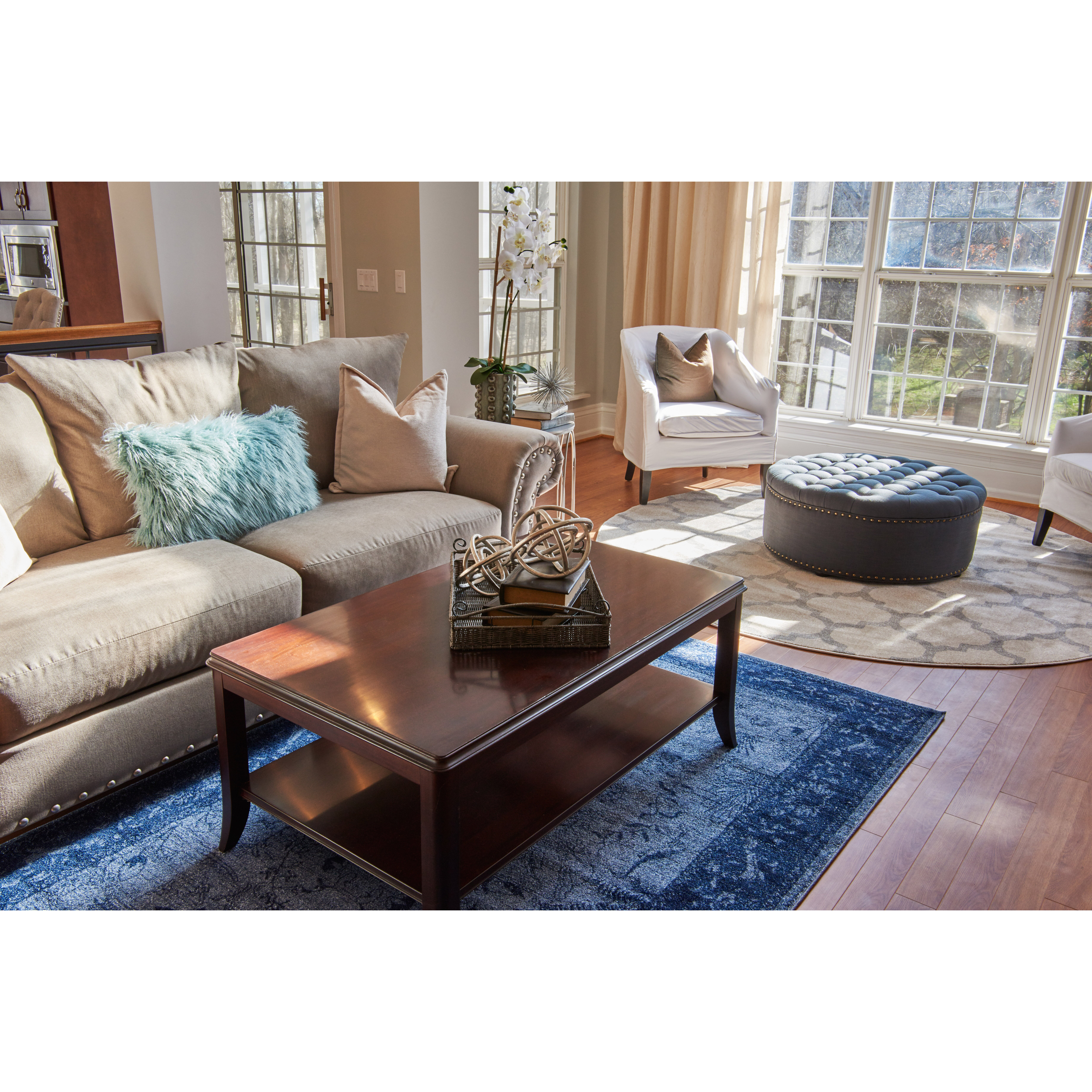 Charlton home ellington blue area rug