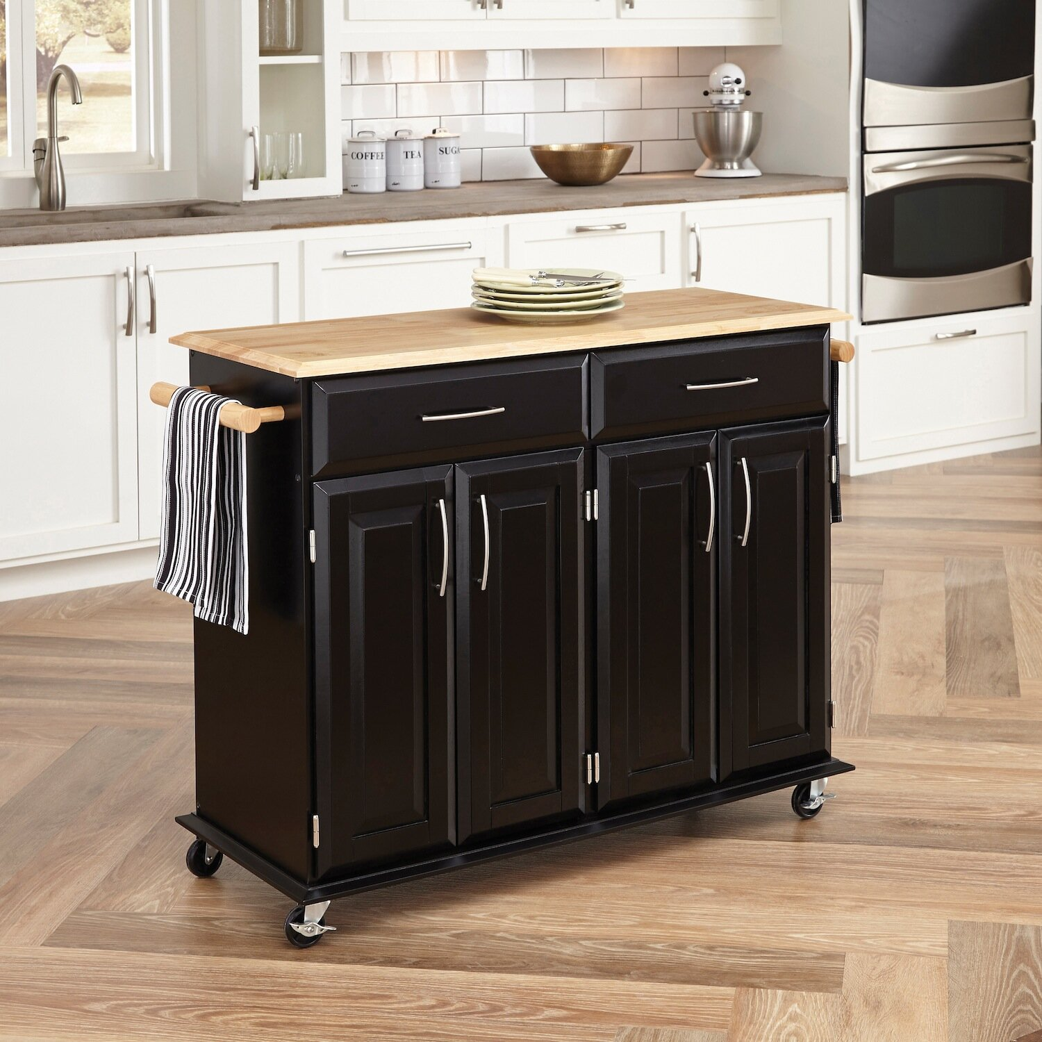 Kitchen Island Top Charlton Home Hamilton Kitchen Island With Wood Top Reviews
