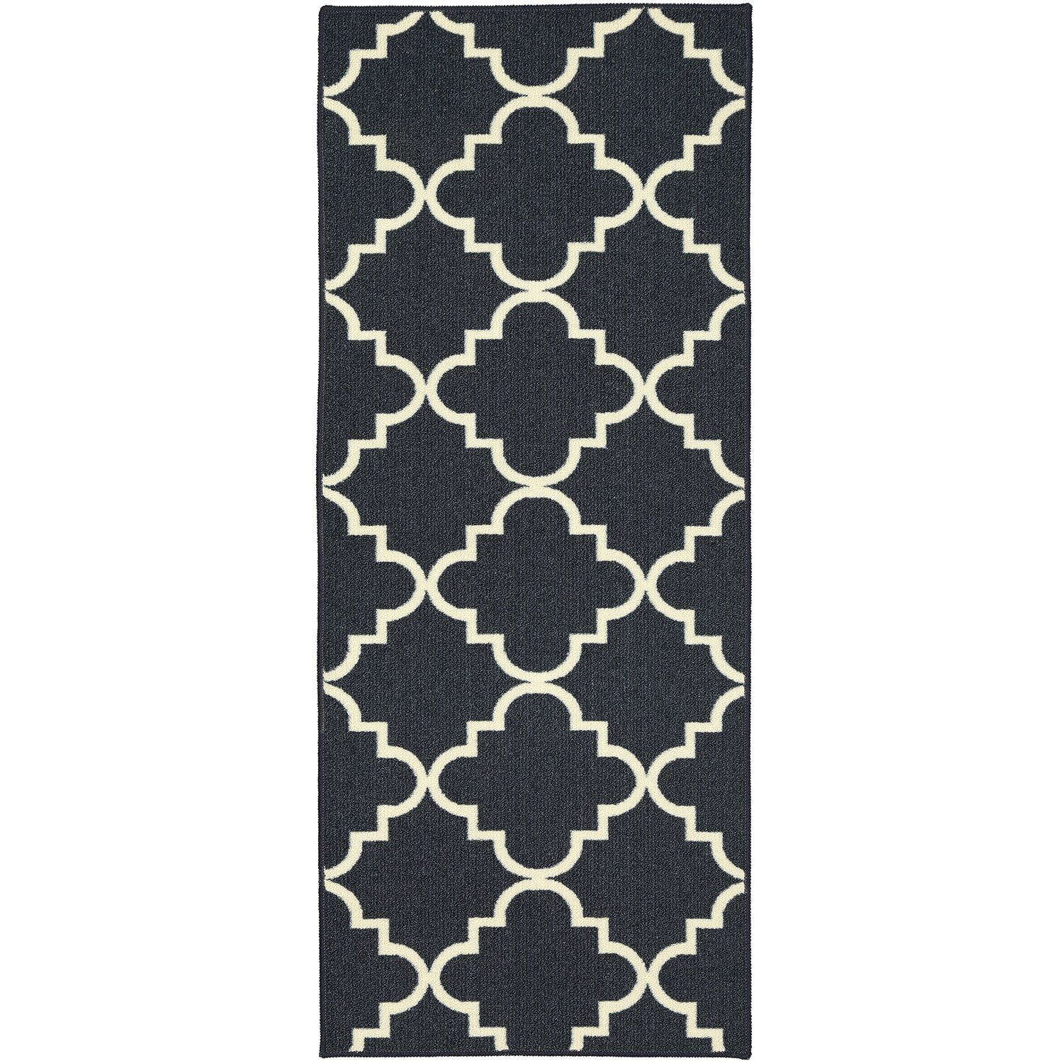 Charlton Home Hanley Navy Blue u0026 White Area Rug u0026 Reviews : Wayfair.ca