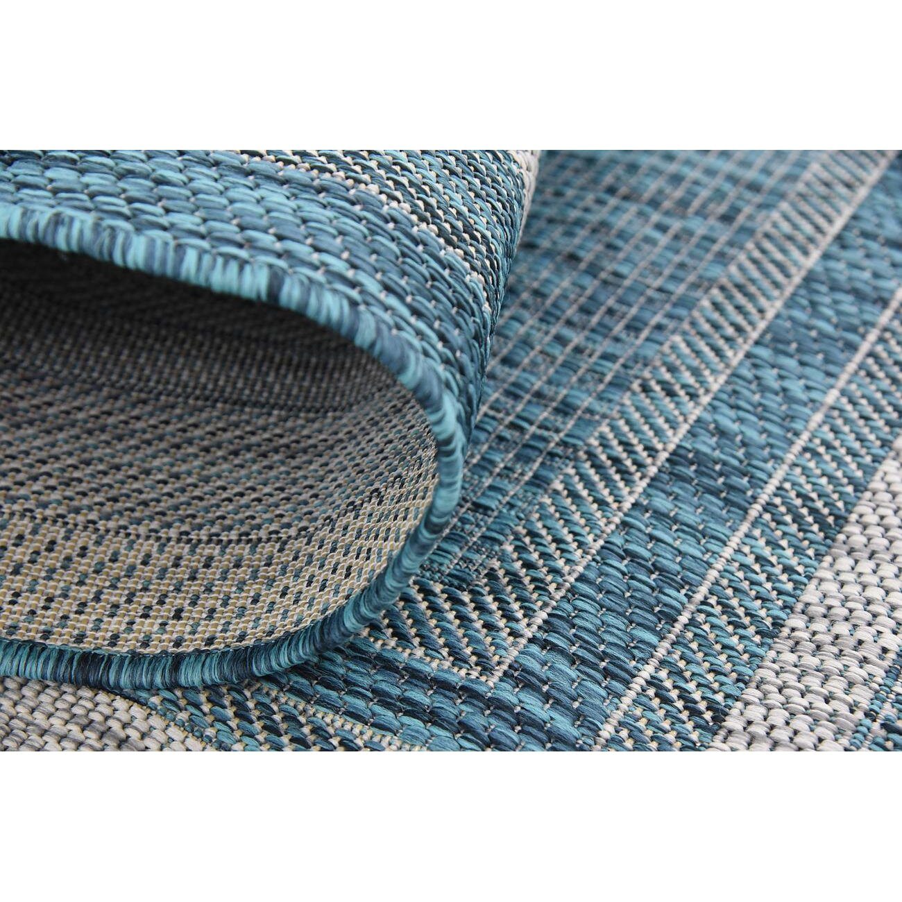 Charlton Home Harland Teal Outdoor Area Rug & Reviews