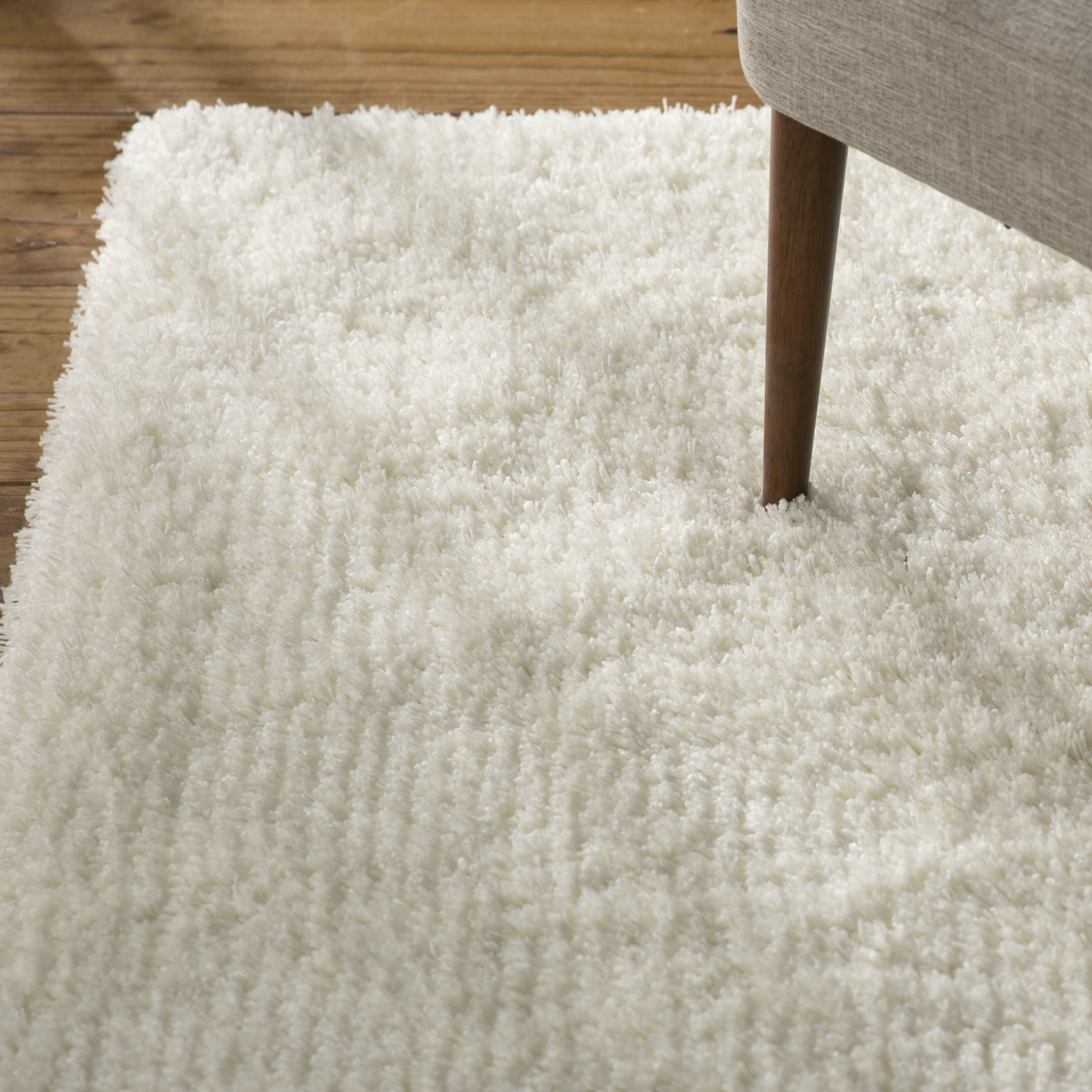 Charlton Homeu0026reg; Pierce White Shag Area Rug