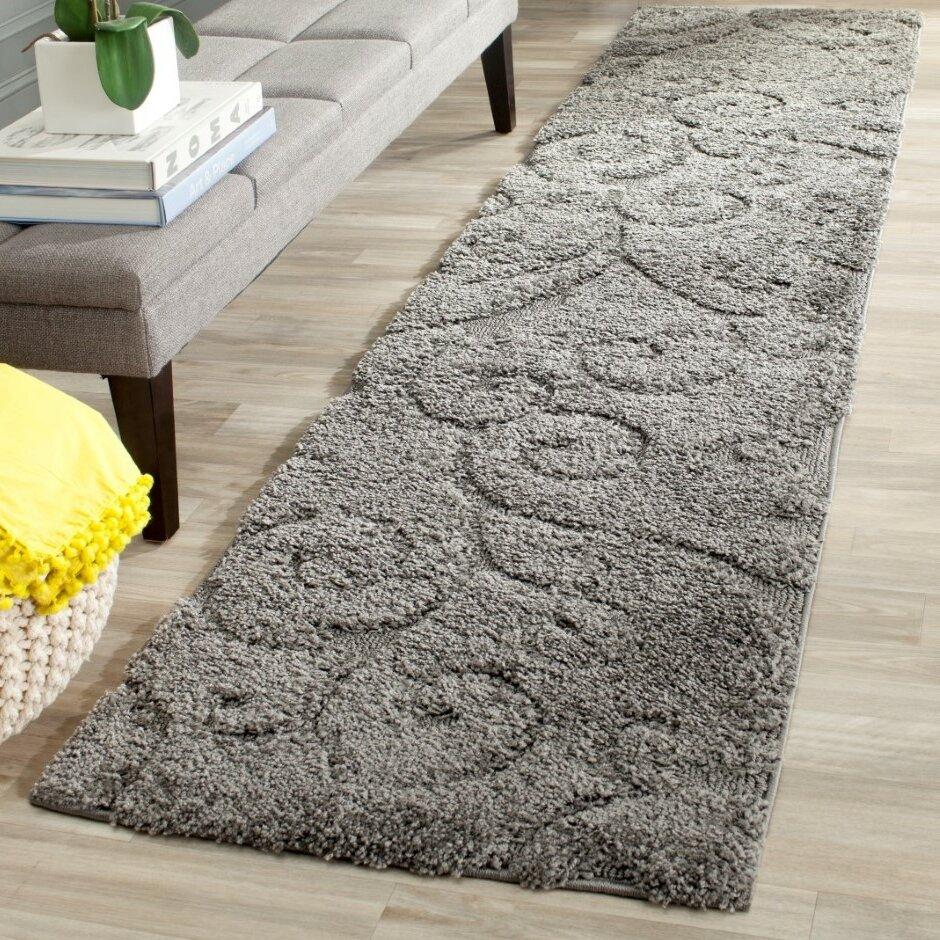 Rowes Furniture Charlton Home Rowes Swirl Gray Area Rug & Reviews | Wayfair