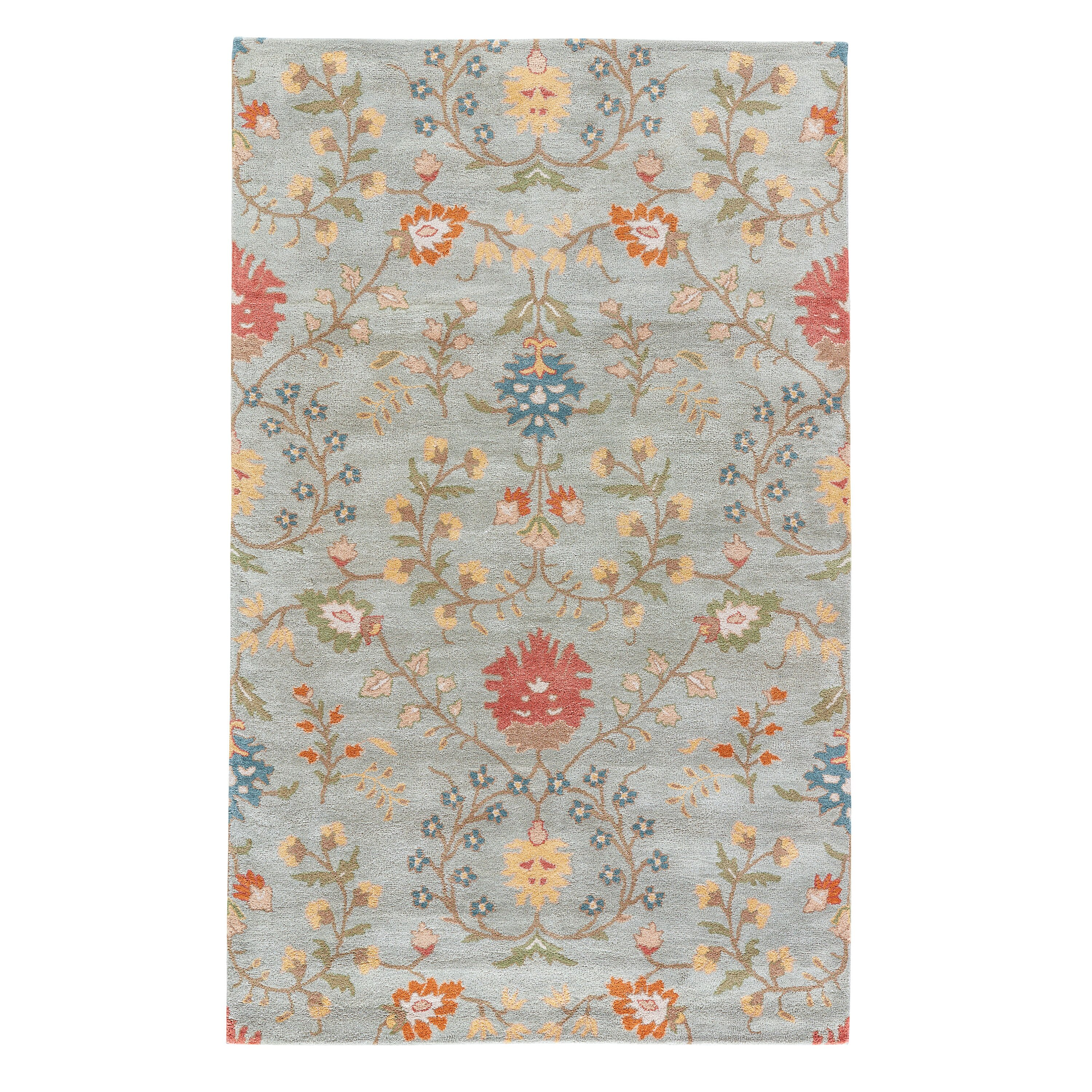 Floral Wool Rugs Home Decor