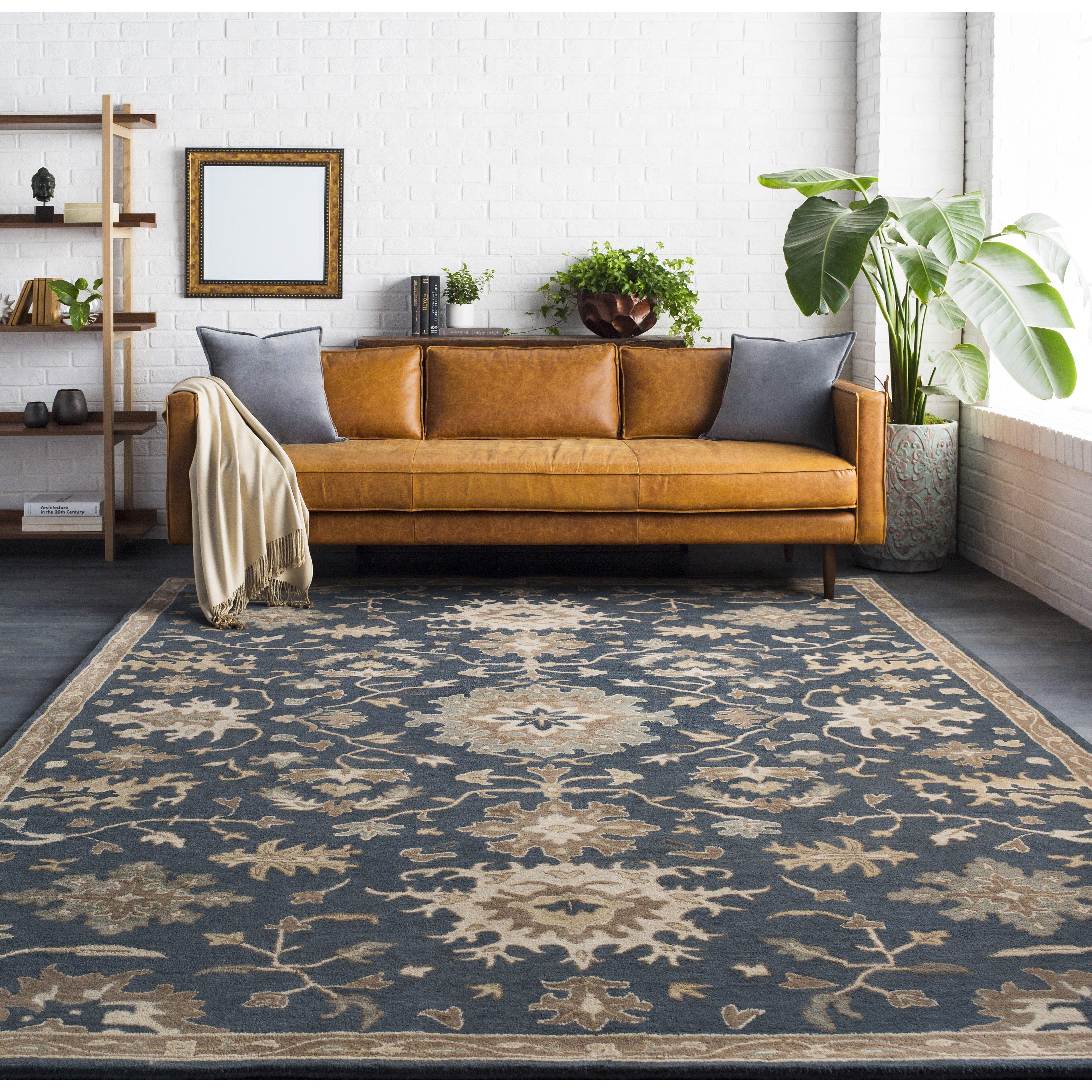 charlton home willard navy olive area rug reviews wayfair na