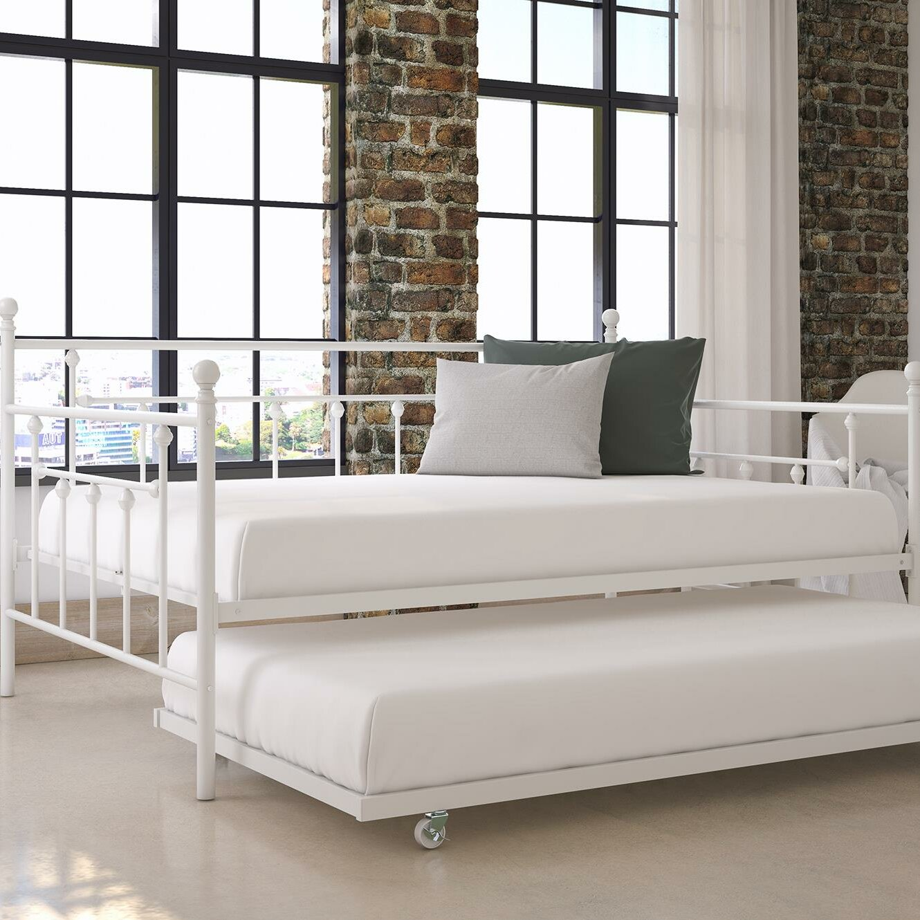 charlton home mccarthy daybed with trundle reviews wayfair. Black Bedroom Furniture Sets. Home Design Ideas