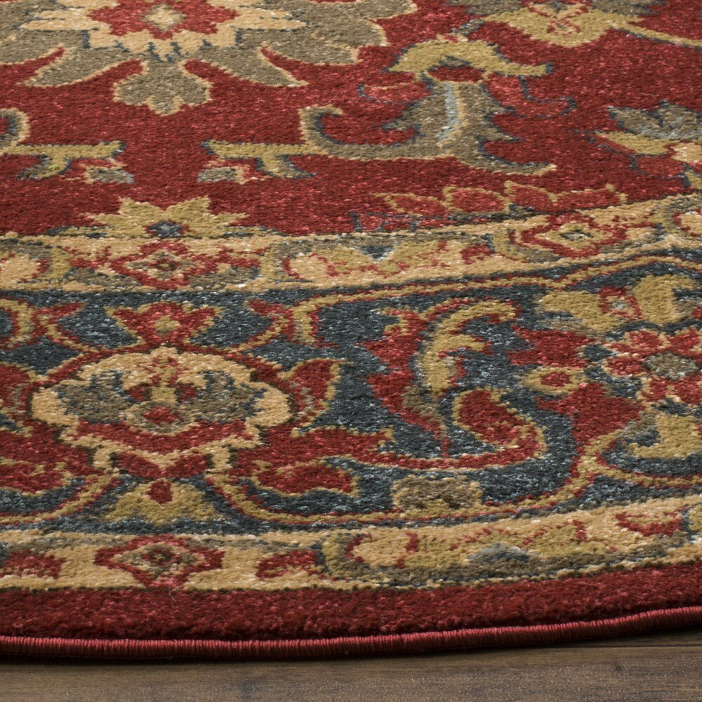 Denton red navy area rug reviews joss main for Red and navy rug