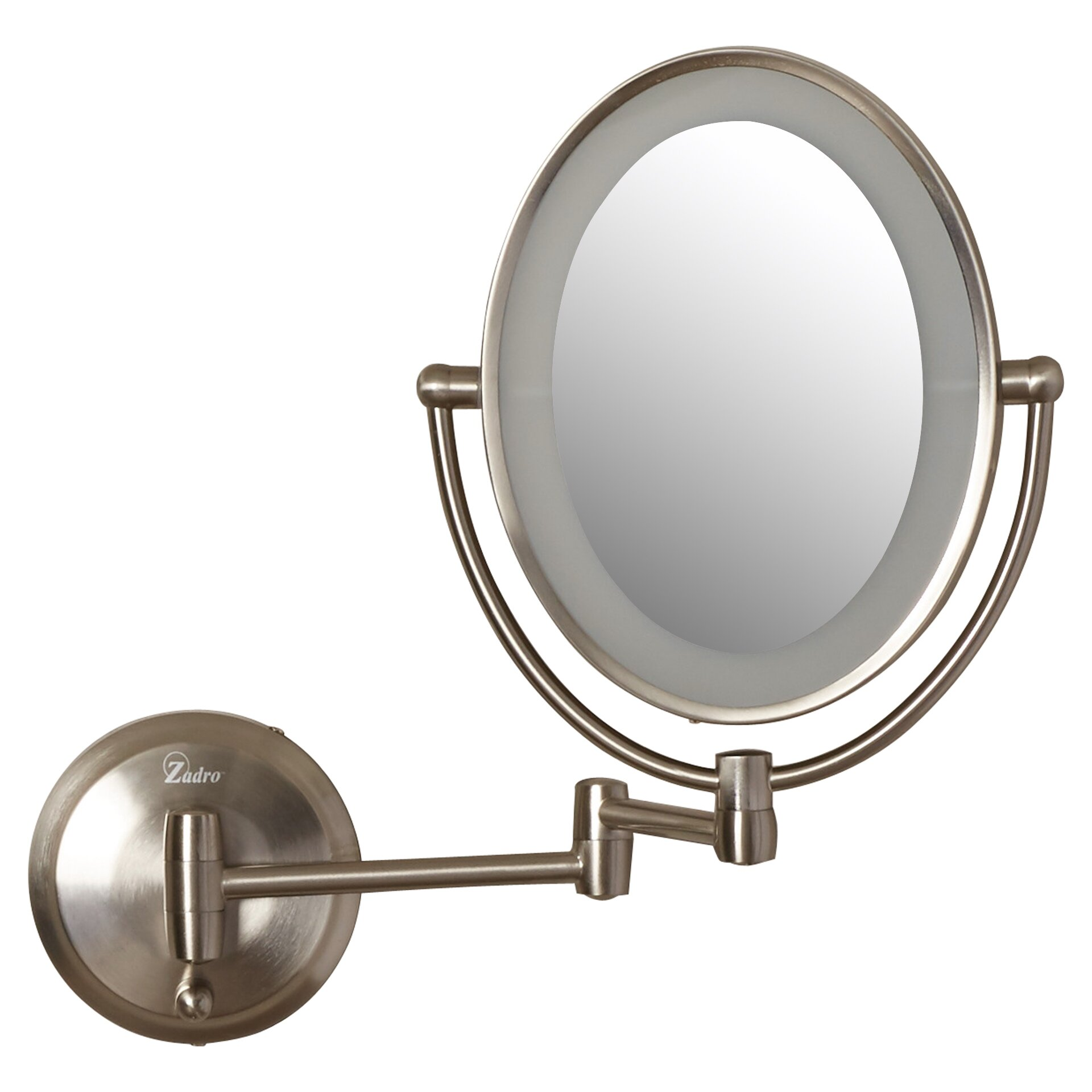 Wall mounted makeup mirror with lights - Zadro Led Lighted 1x 10x Magnification Mount Wall Mirror