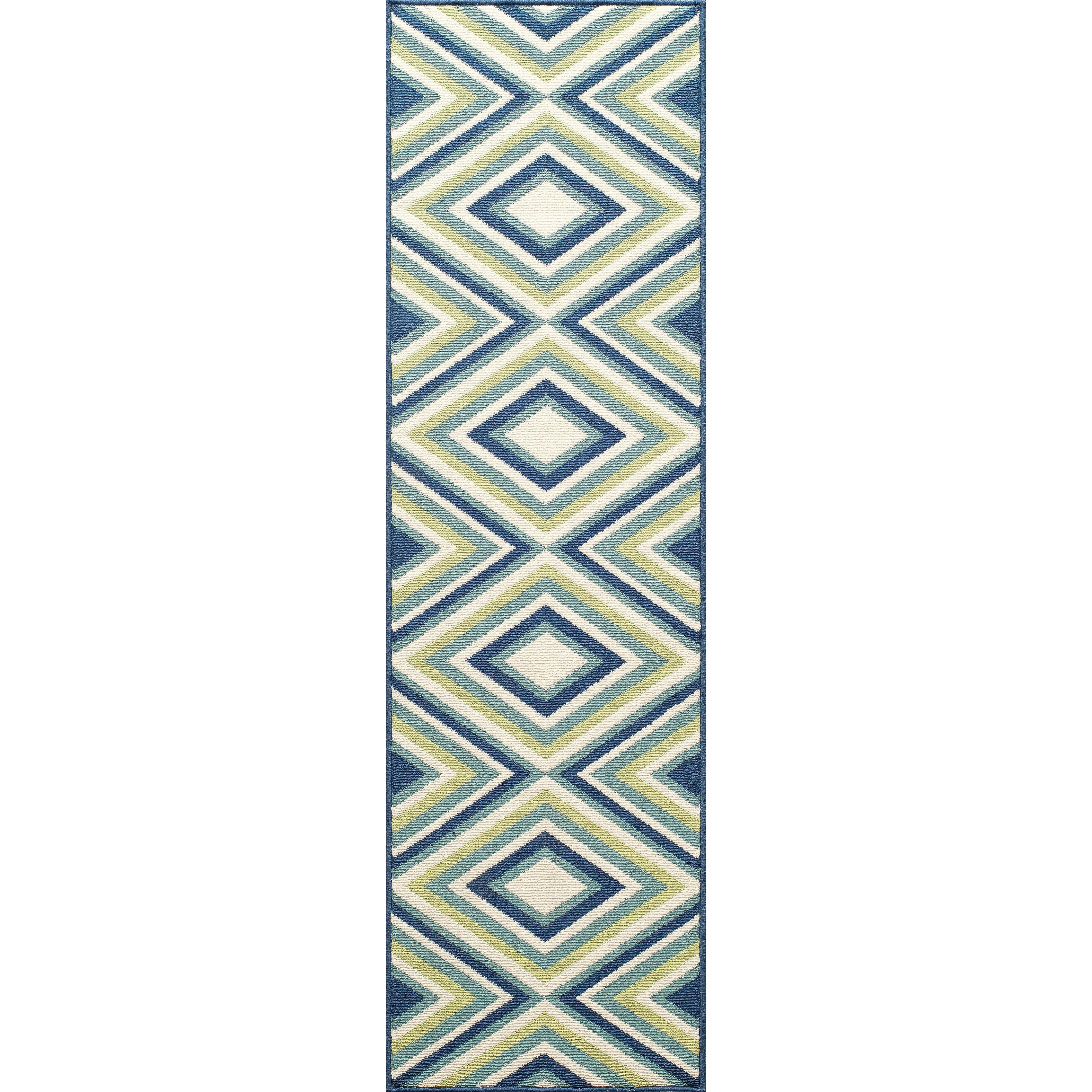 Varick Gallery Wexler Hand Woven Blue Green Area Rug