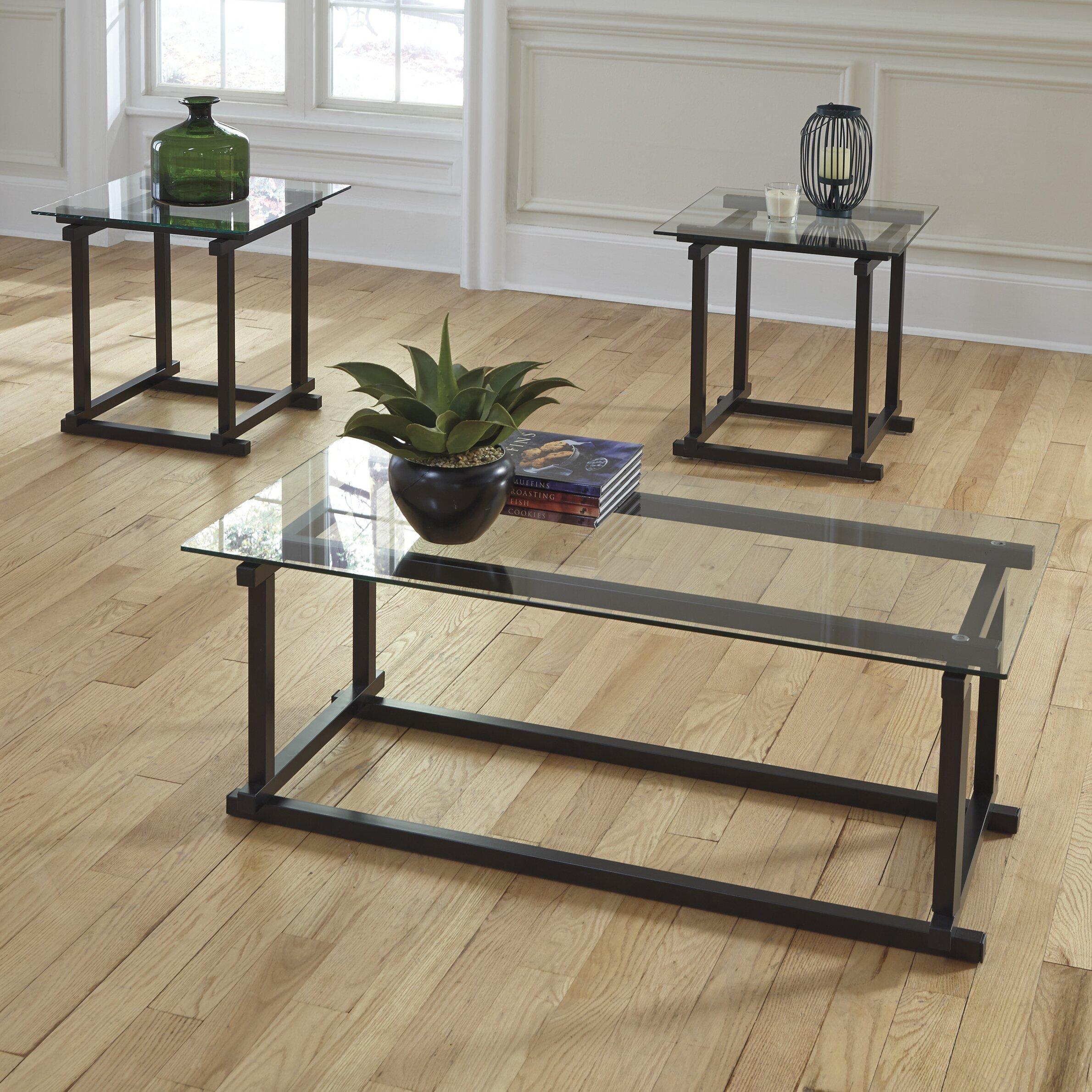 Coffee Table Set Of 3 Elida 3 Piece Coffee Table Set Reviews Allmodern