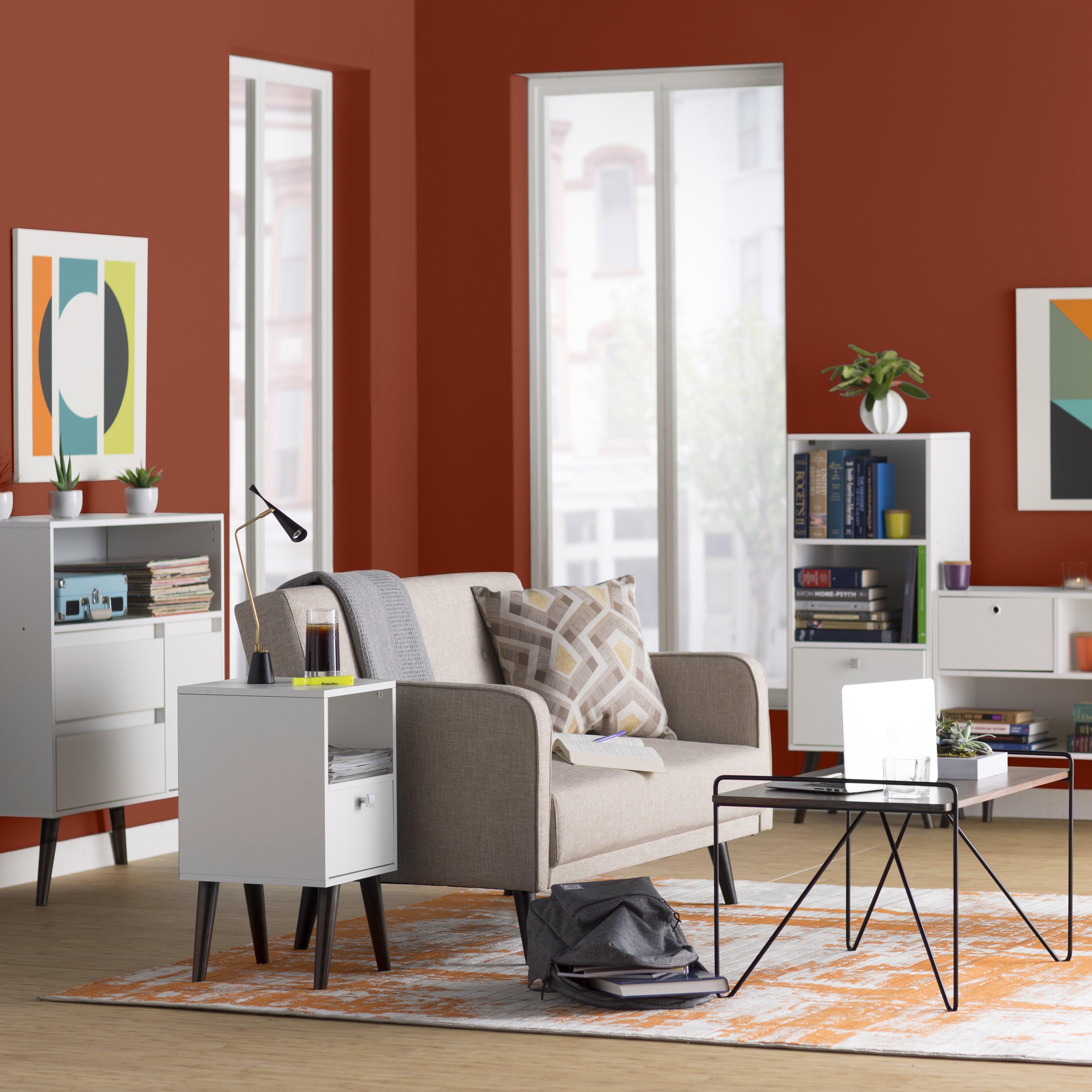 Orange Rugs For Living Room Varick Gallery Ferrin Light Gray Burnt Orange Area Rug Reviews