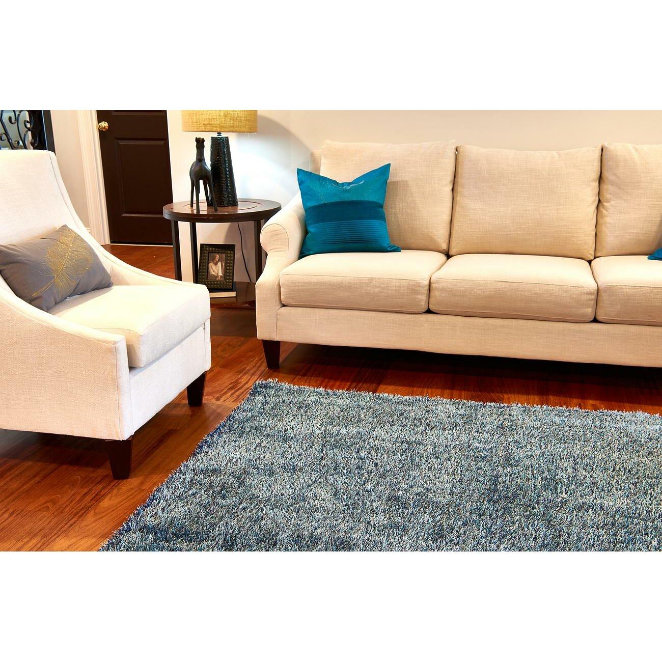 Varick gallery boice navy blue area rug