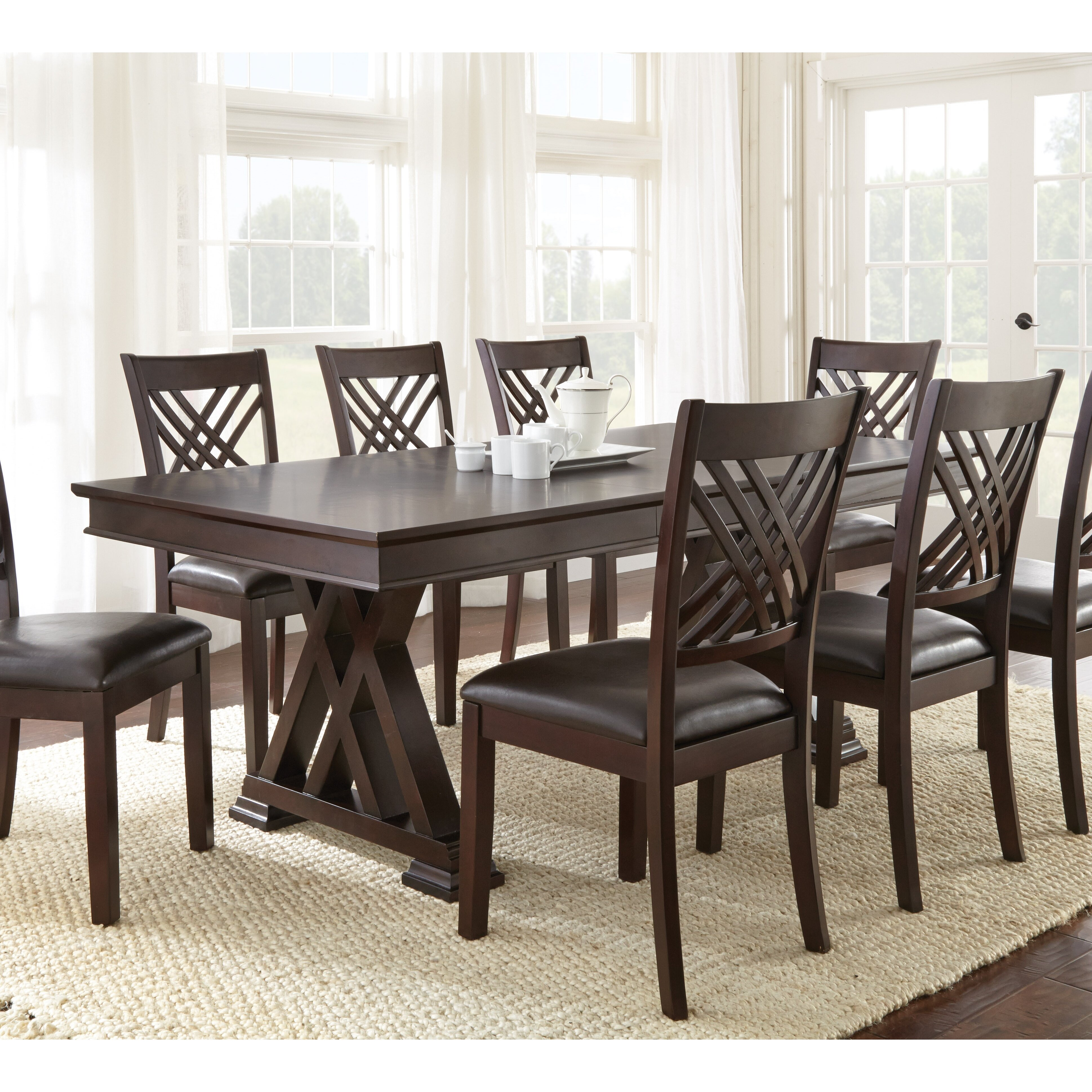 Large Oak Dining Table Seats 10 Double Pedestal Kitchen Dining Tables Youll Love Wayfair