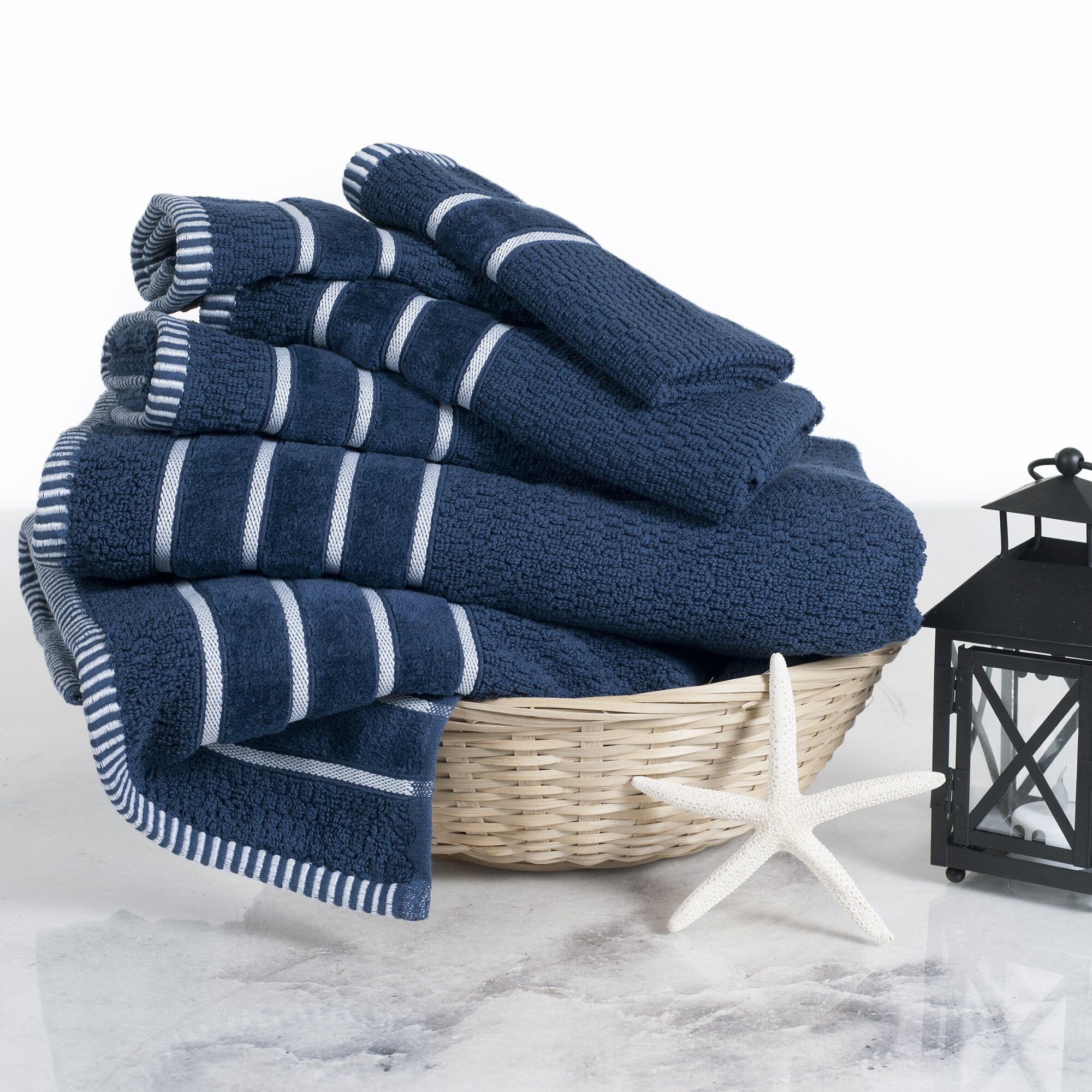 Decorative Hand Towels For Powder Room Brayden Studio Delfino Rice Weave 6 Piece Towel Set Reviews