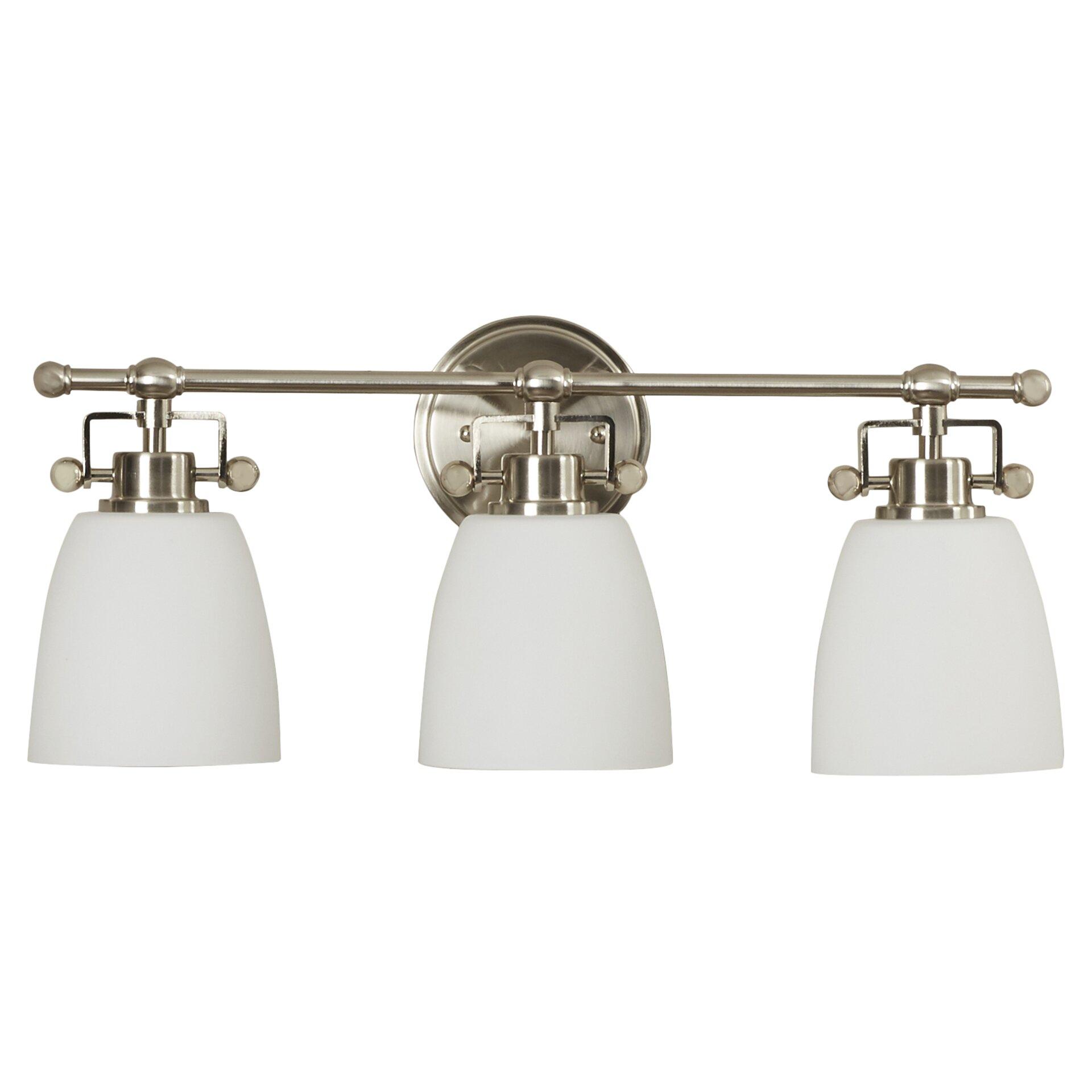Brayden Studio Meyer 3Light Vanity Light Reviews – 3 Light Bathroom Fixture