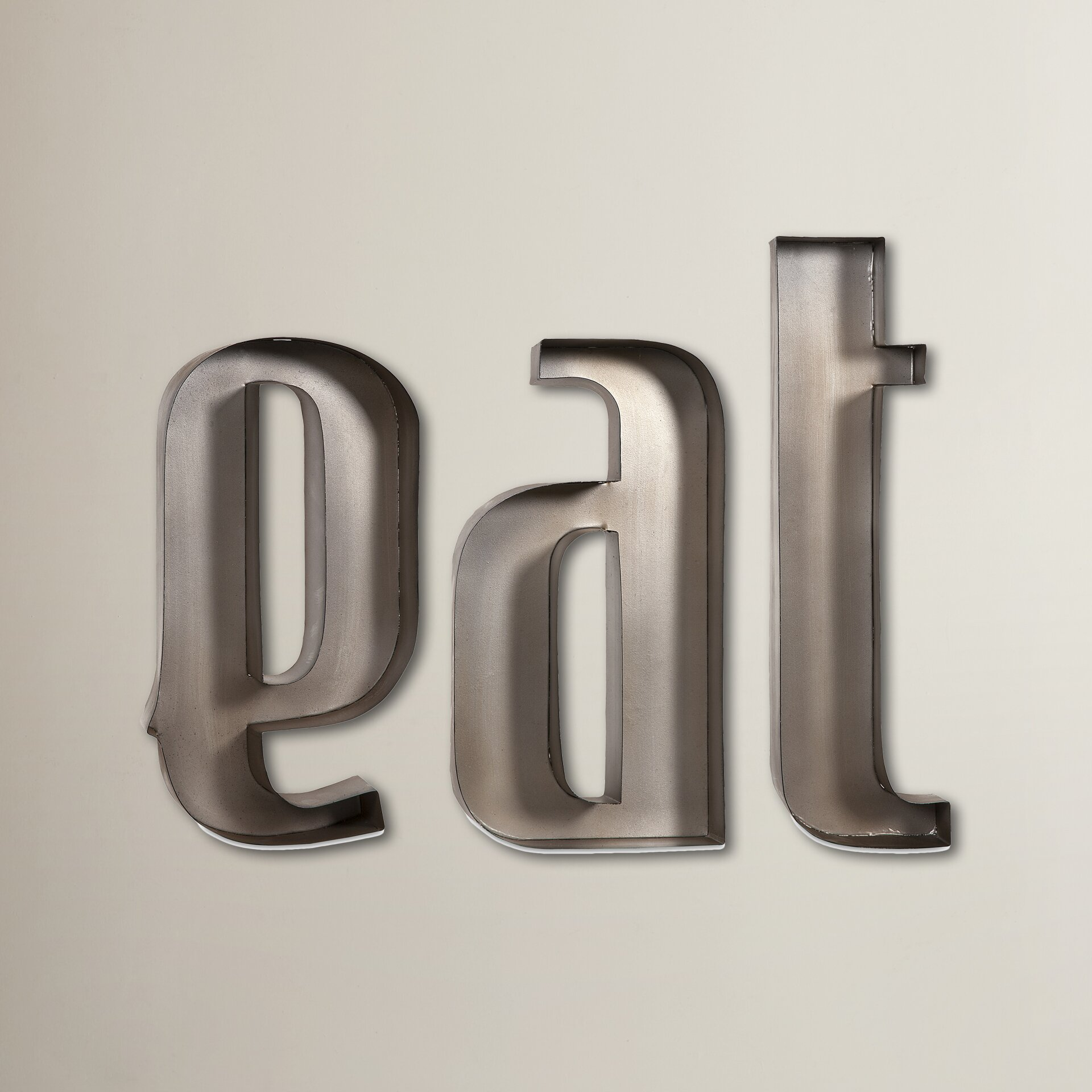 Letter S Wall Decor Brayden Studio Eat Letters Wall Dccor Reviews Wayfair
