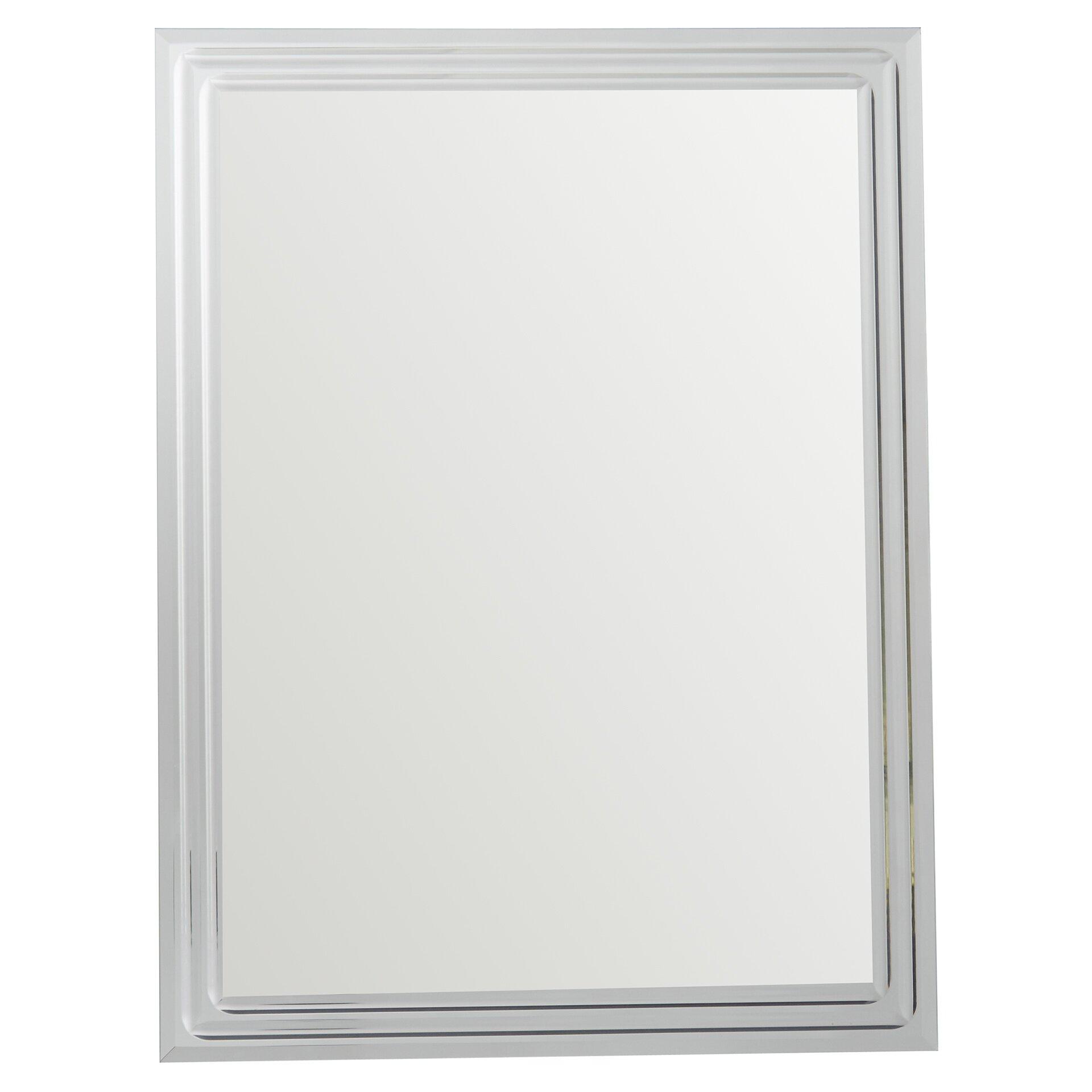 Bevelled Bathroom Mirror Brayden Studio Frameless Tri Bevel Wall Mirror Reviews Wayfair