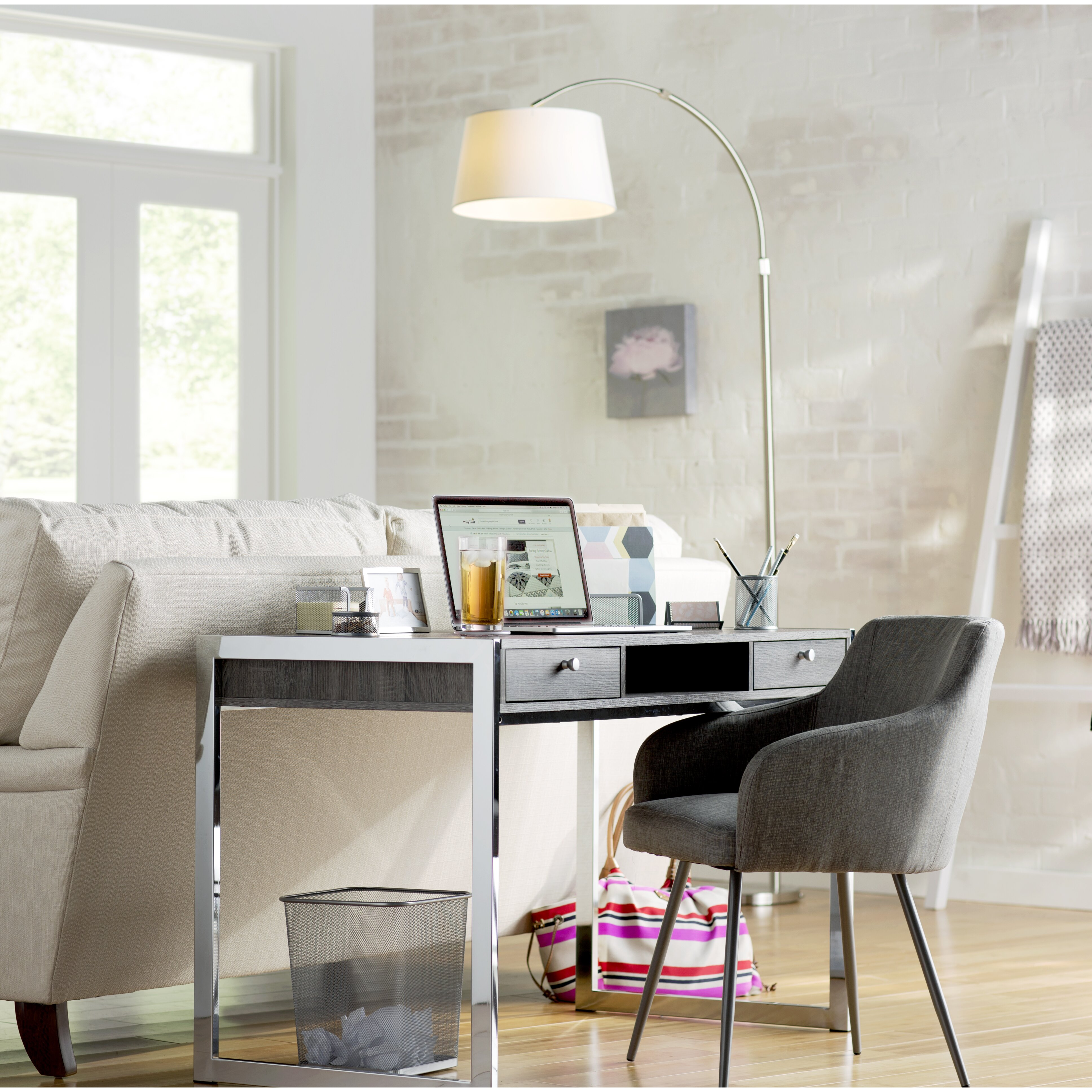 Arc floor lamp dining table -  Led Arched Floor Lamp Brayden Studio Reg Reisinger 82 Quot