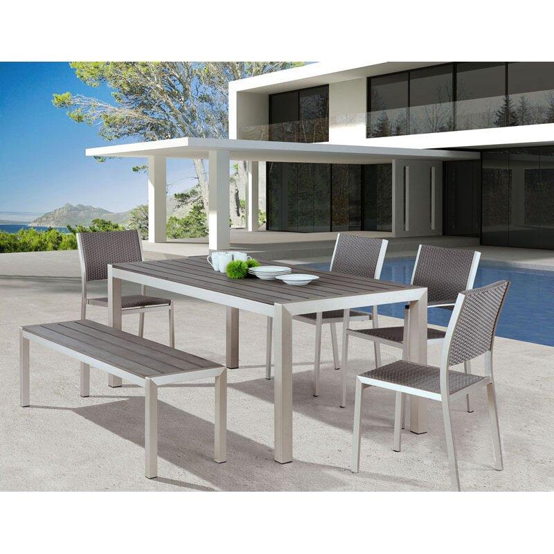 Brayden Studio Montiel Aluminum Picnic Bench Reviews