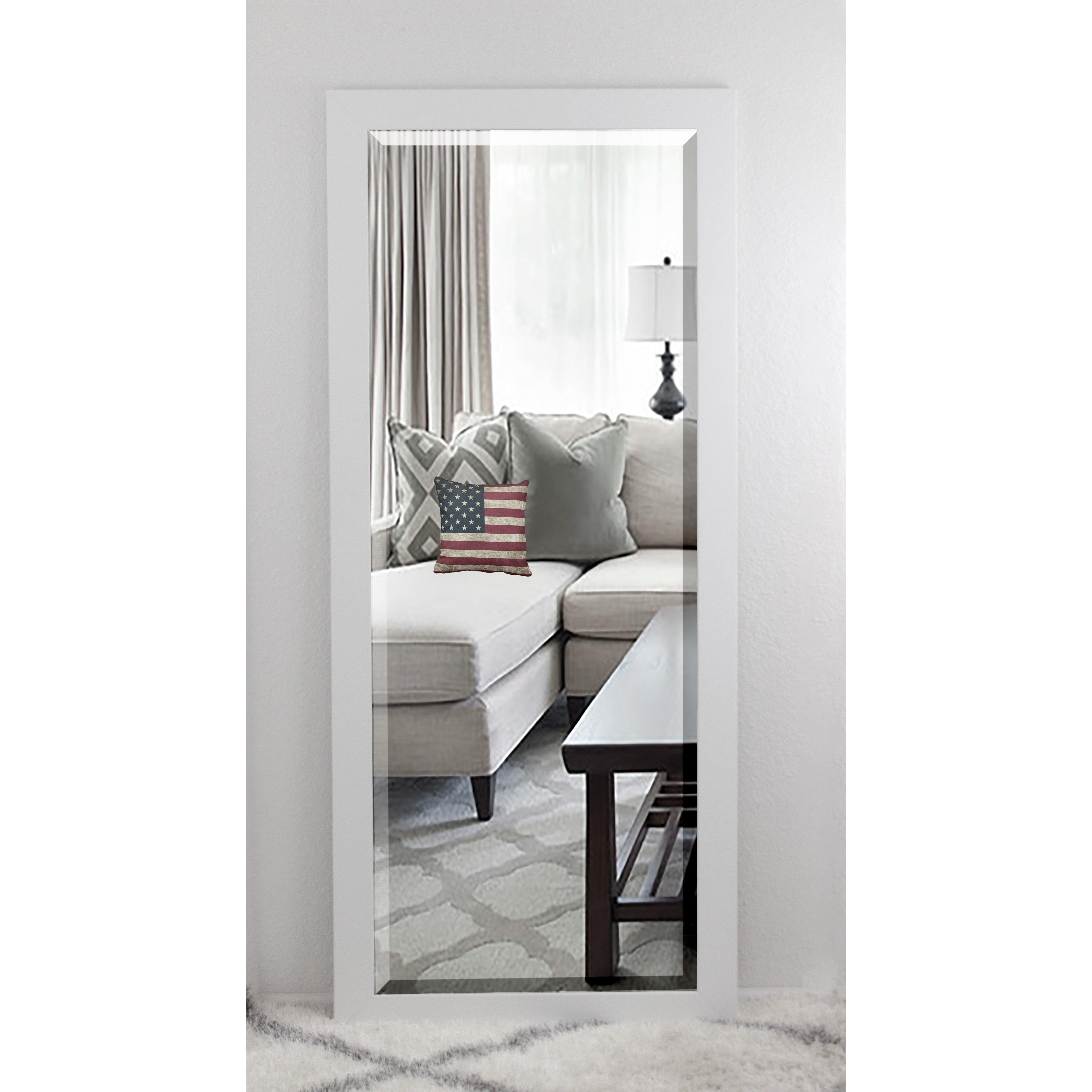 Brayden Studio White Beveled Vanity Wall Mirror Amp Reviews
