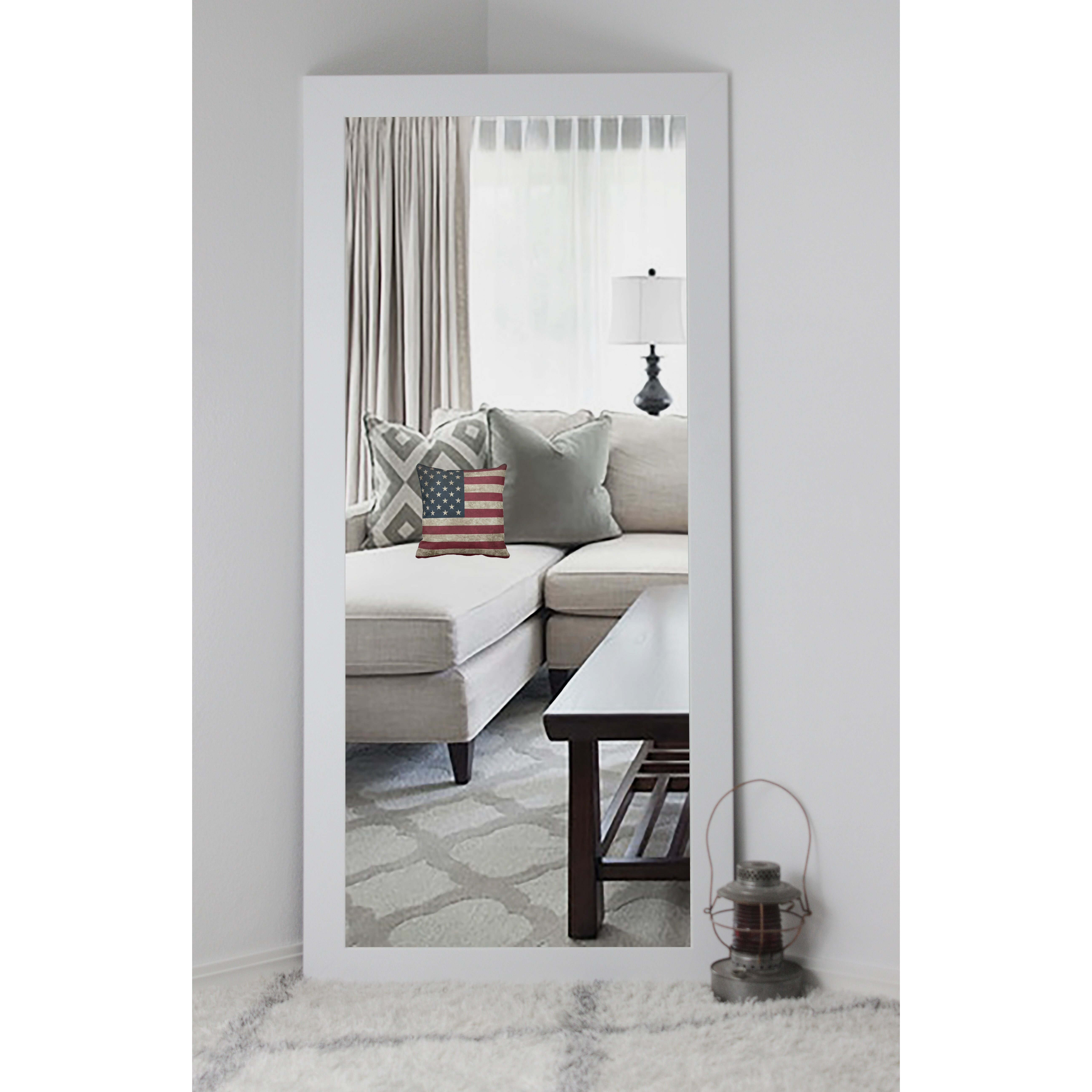 QUICK VIEW. Classic White Vanity Wall Mirror