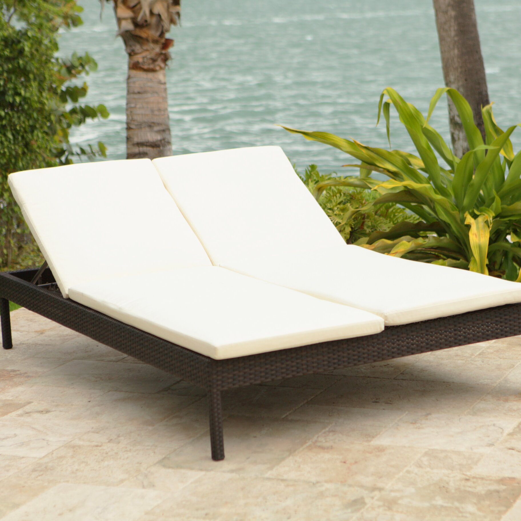 Oversized chaise lounge chairs - Brayden Studio Reg Roque Double Chaise Lounge With Cushion