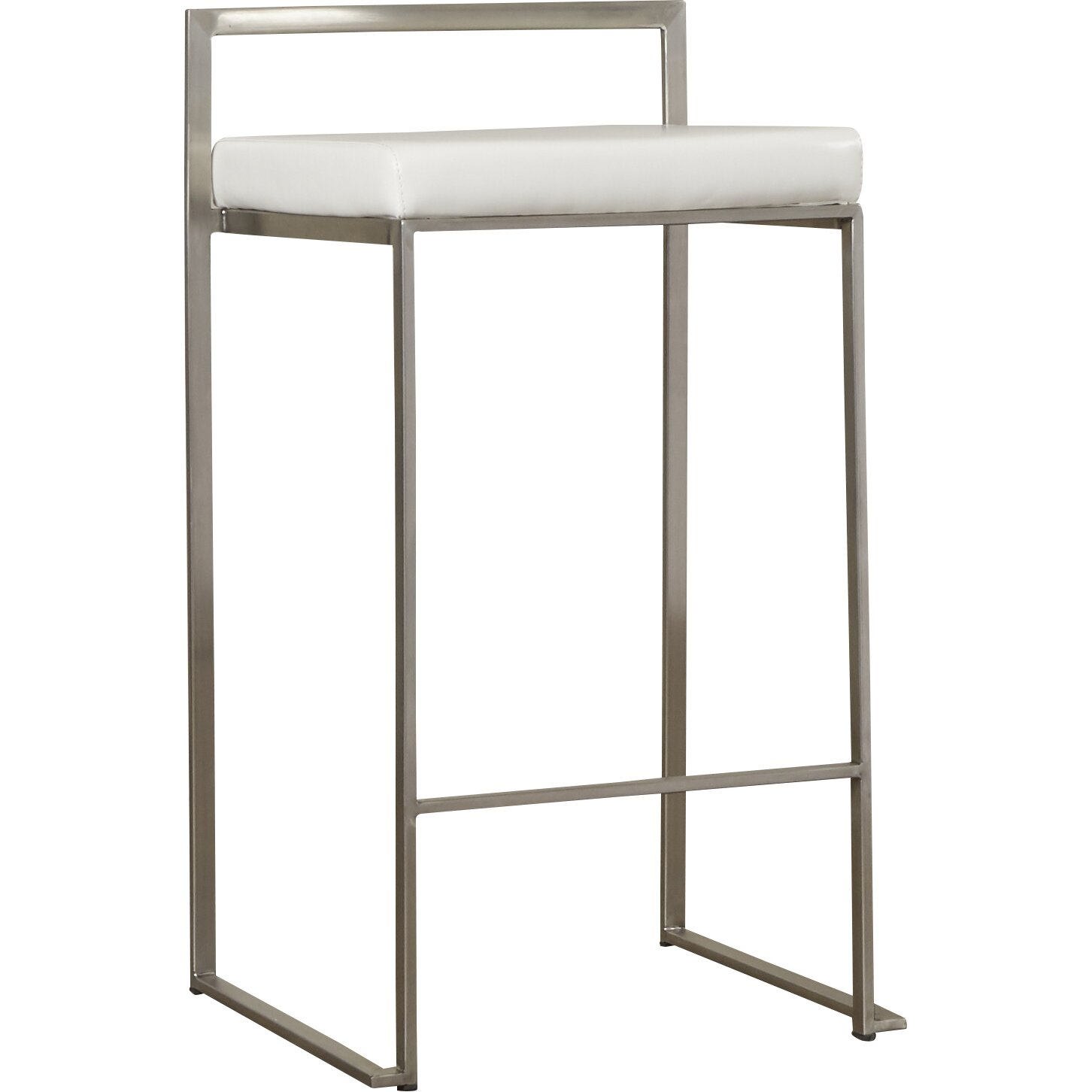 Wade Logan 27 Quot Square Stainless Steel Bar Stool Amp Reviews