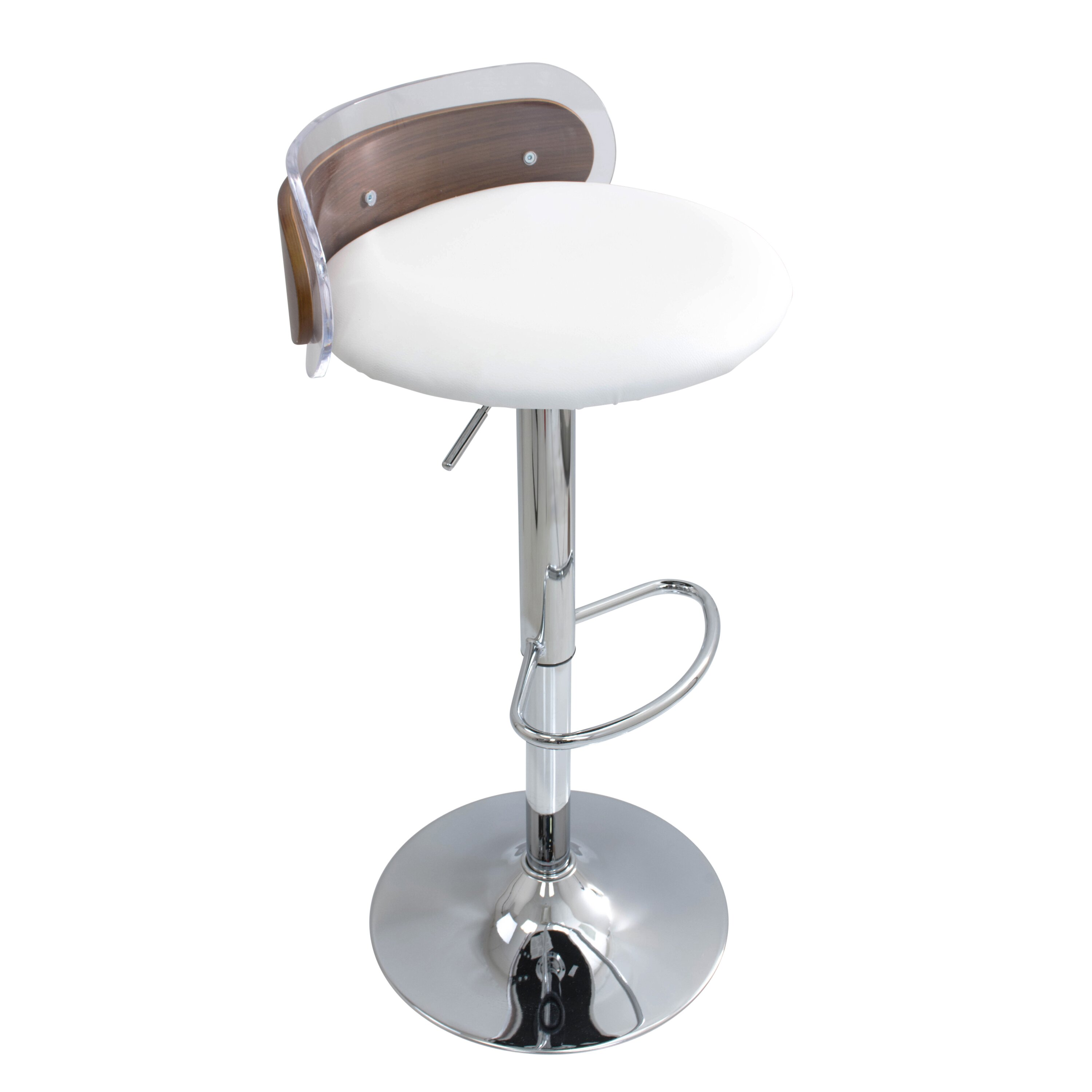 Wade Logan Hurley Adjustable Height Swivel Bar Stool