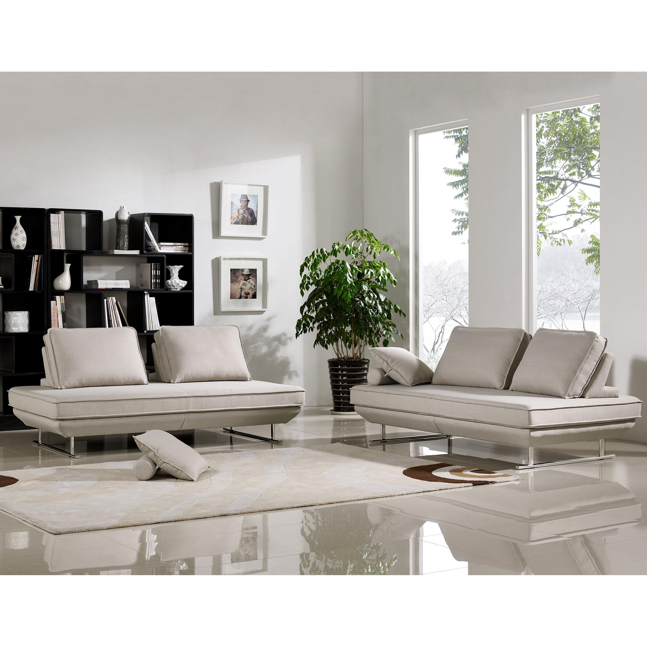 Modern Sofa Sets Living Room Wade Logan Thayne Radford Modern Sofa Bed Set Wayfair