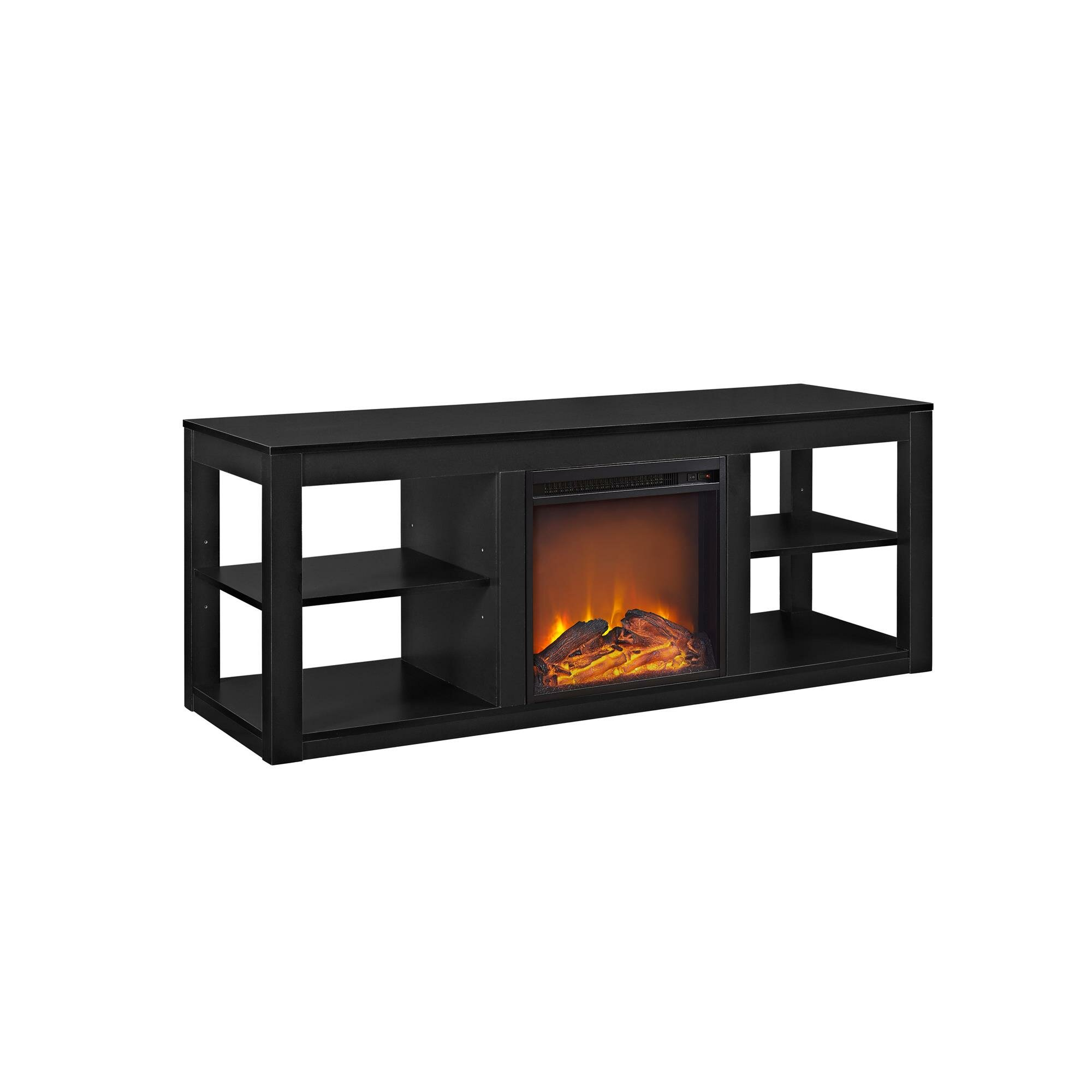 tv stand with electric fireplace dact us